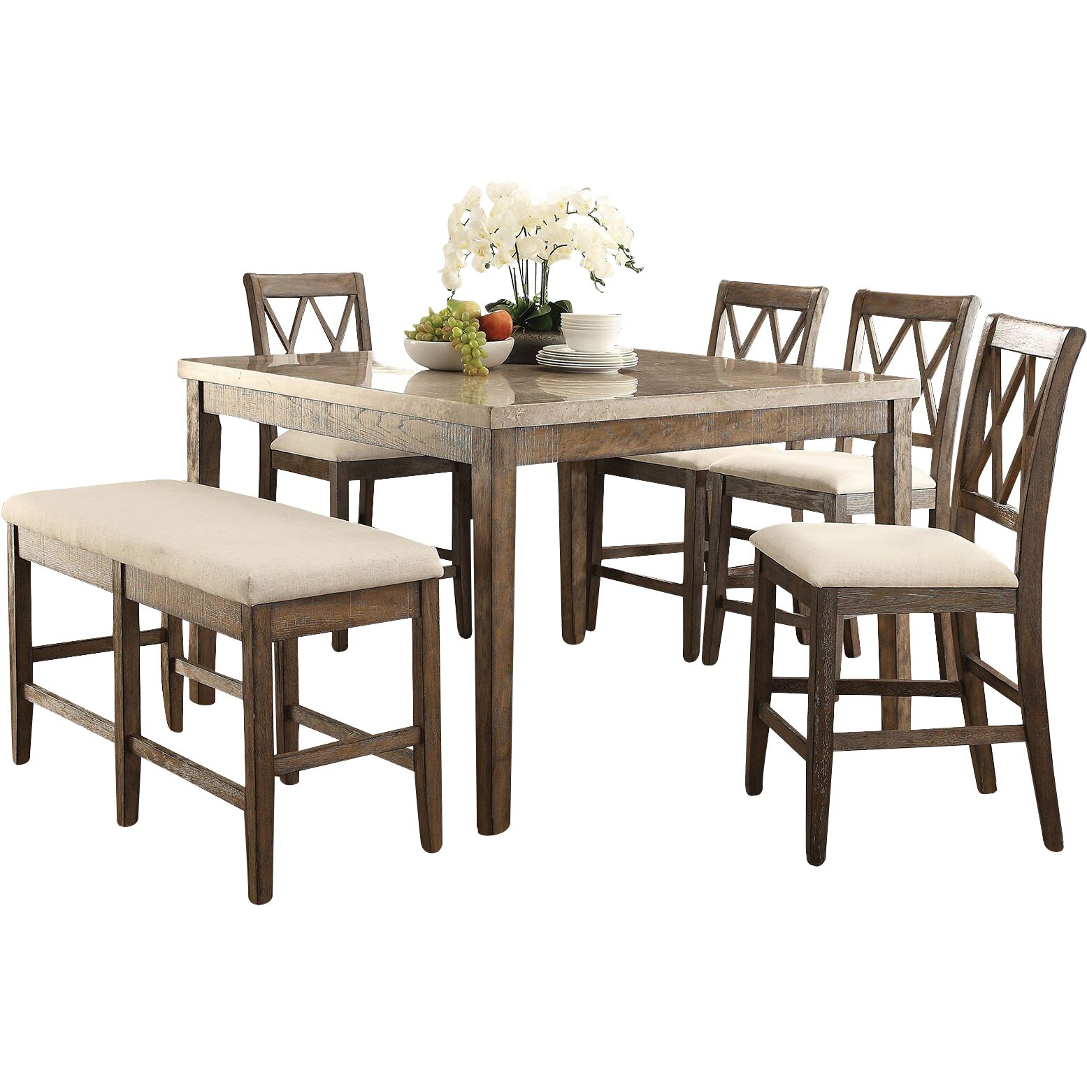 6pc Albury Dining Set With Bench Dining Set 6 Piece. Iranbourse.co. Full resolution  portrait, nominally Width 1555 Height 1555 pixels, portrait with #995E32.