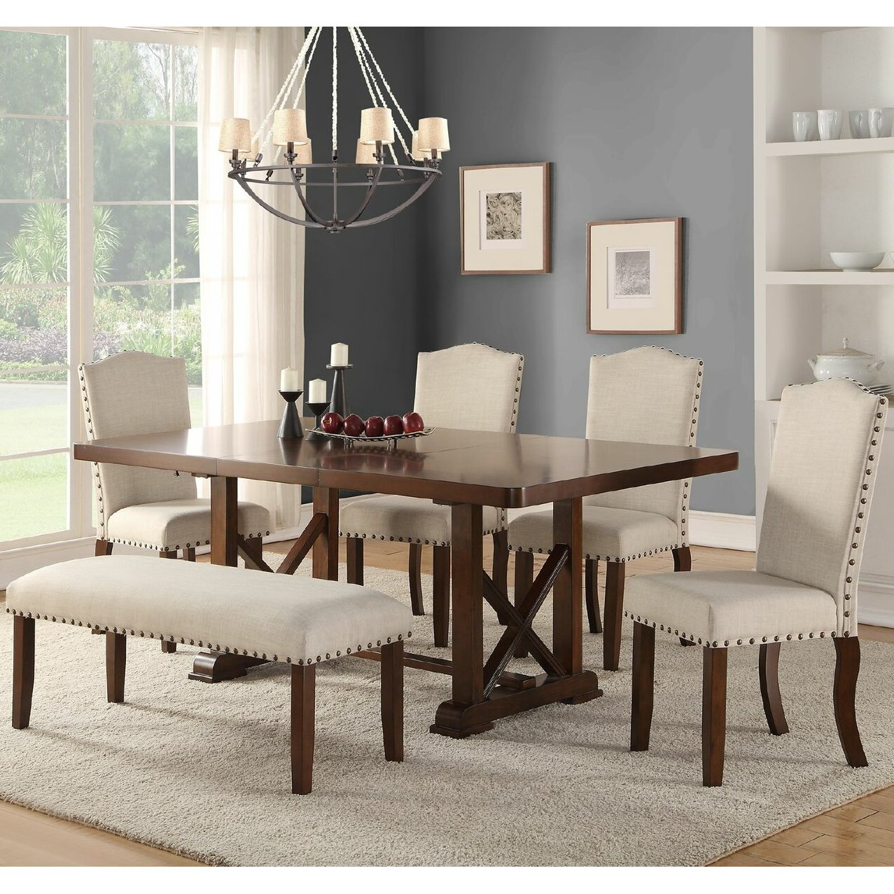 Indoor Picnic Style Dining Table Bench Kitchen Dining Room Sets Youll Love Wayfair