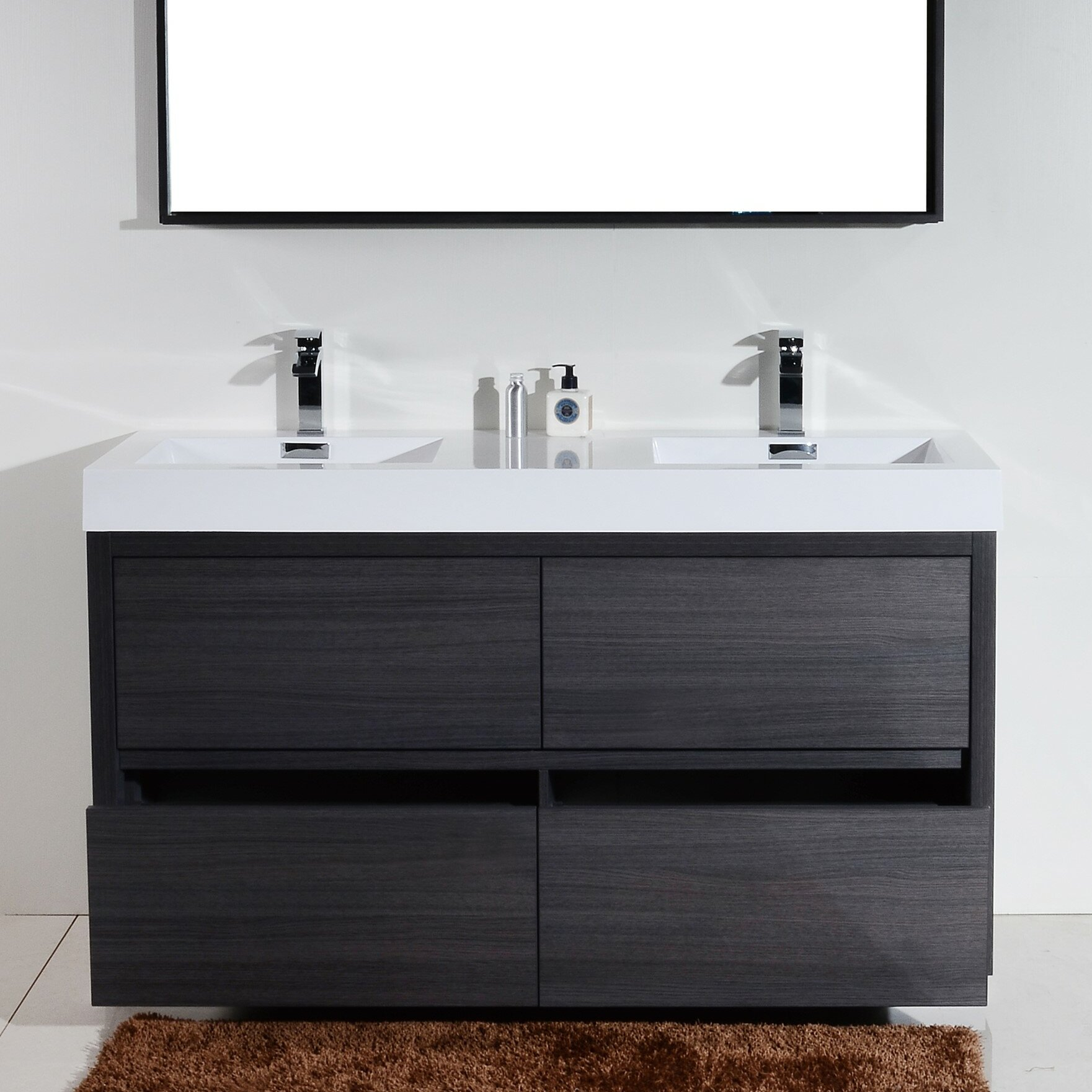 Kube Bath Bliss 60 Double Free Standing Modern Bathroom Vanity .