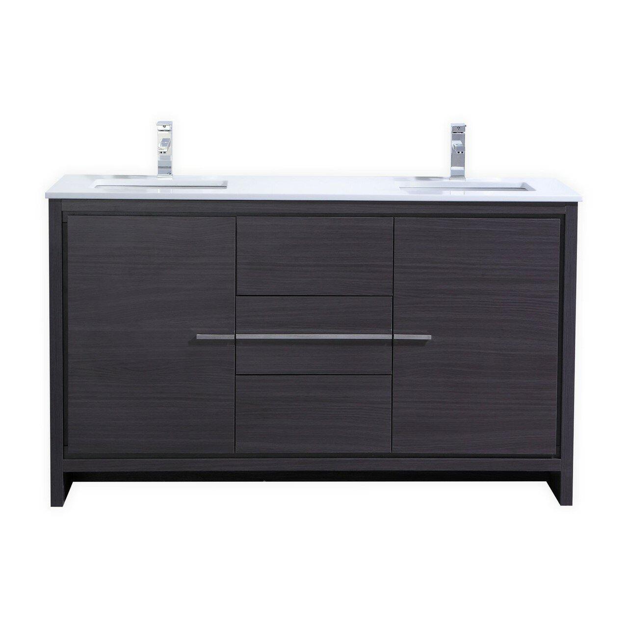 modern double bathroom vanities | allmodern