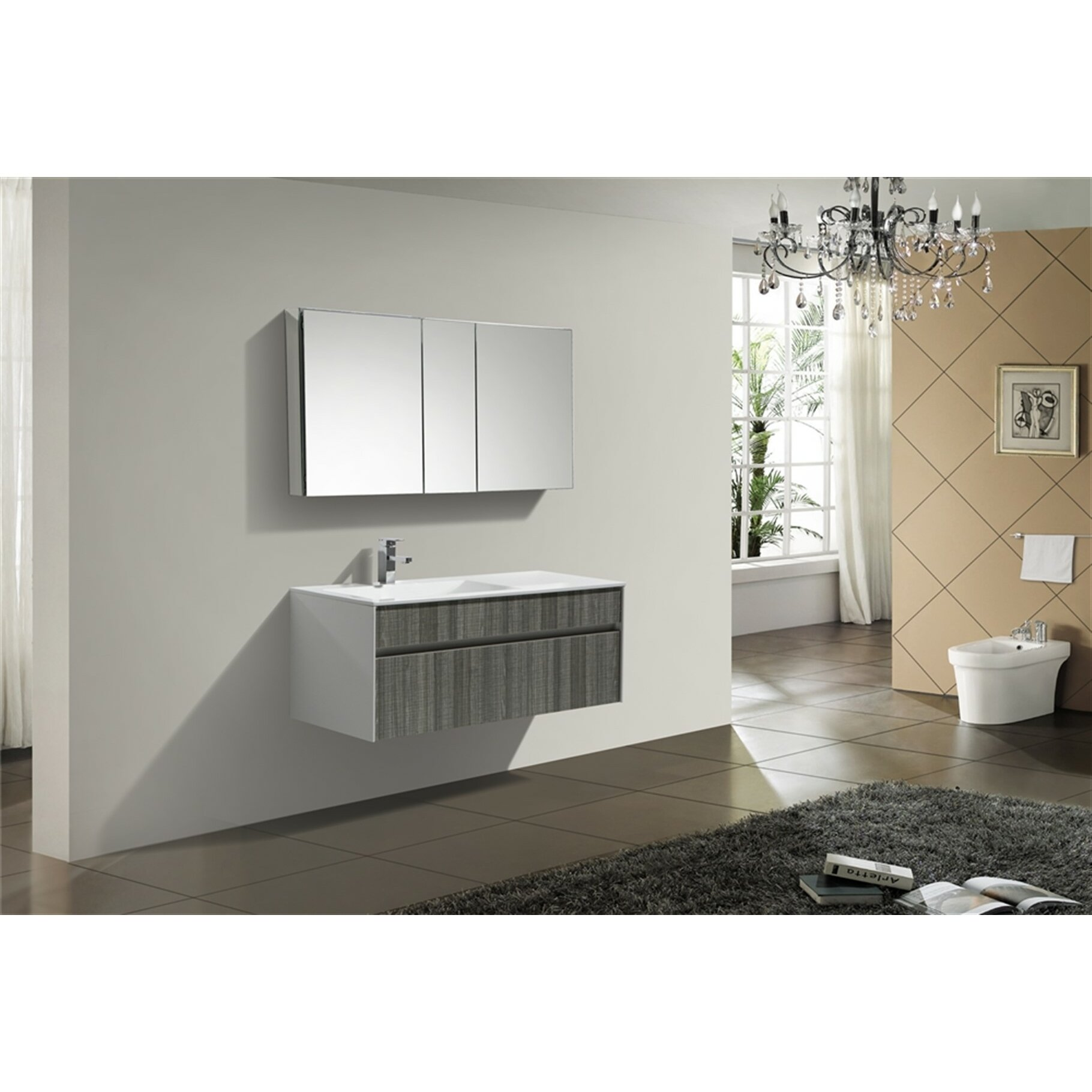 kube bath fitto 48 single modern bathroom vanity set reviews wayfair. Black Bedroom Furniture Sets. Home Design Ideas