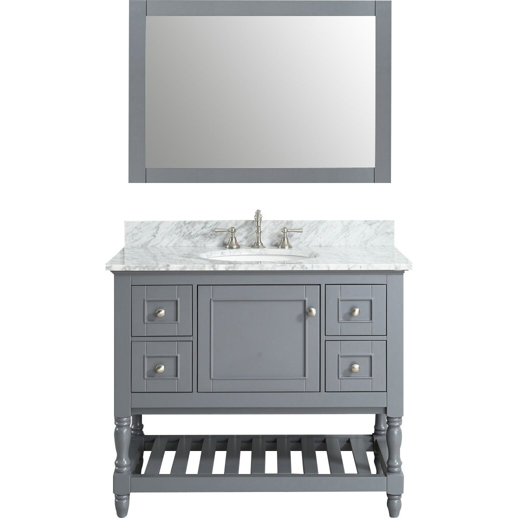 Bathroom sink and mirror - Urban Furnishings Silvia 42 Quot Bathroom Sink Vanity Set With Mirror