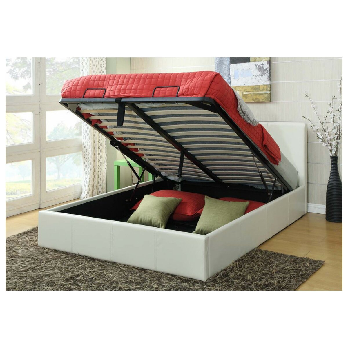 home loft concept herrera ottoman bed reviews. Black Bedroom Furniture Sets. Home Design Ideas