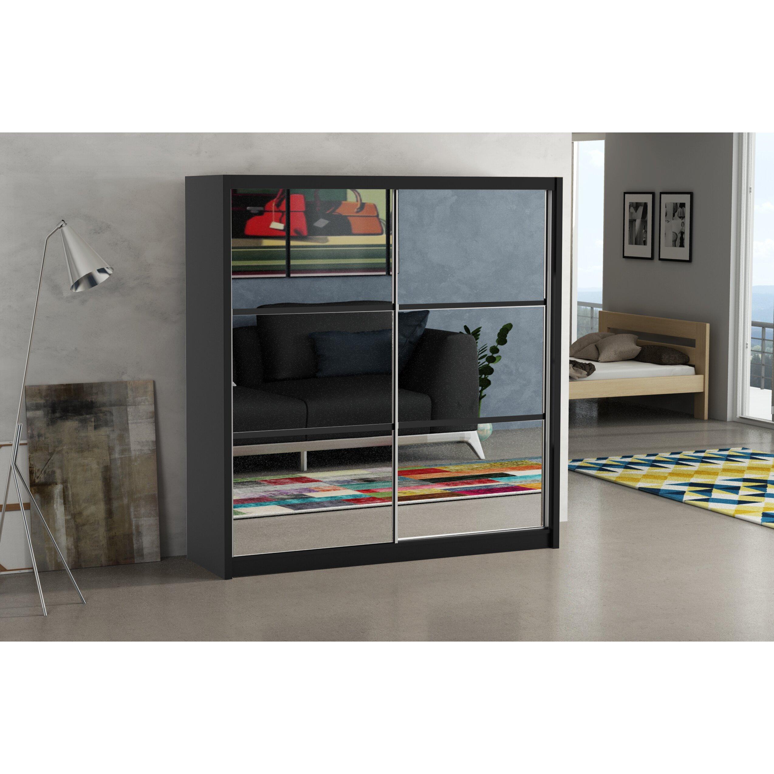 home loft concept julia 2 door wardrobe wayfair uk. Black Bedroom Furniture Sets. Home Design Ideas