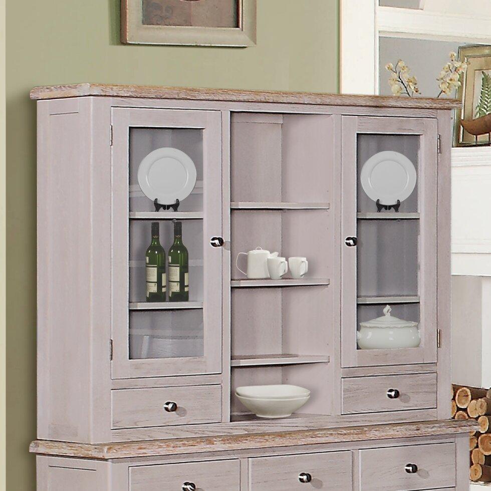 Hutch Display Cabinet Hazelwood Home Suez Hutch Display Cabinet Wayfaircouk