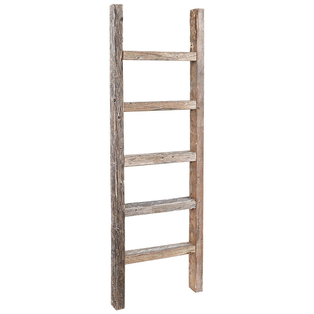 Rusticdecor wood 16 w x 48 h decorative ladder reviews - Decorative ladder for bathroom ...