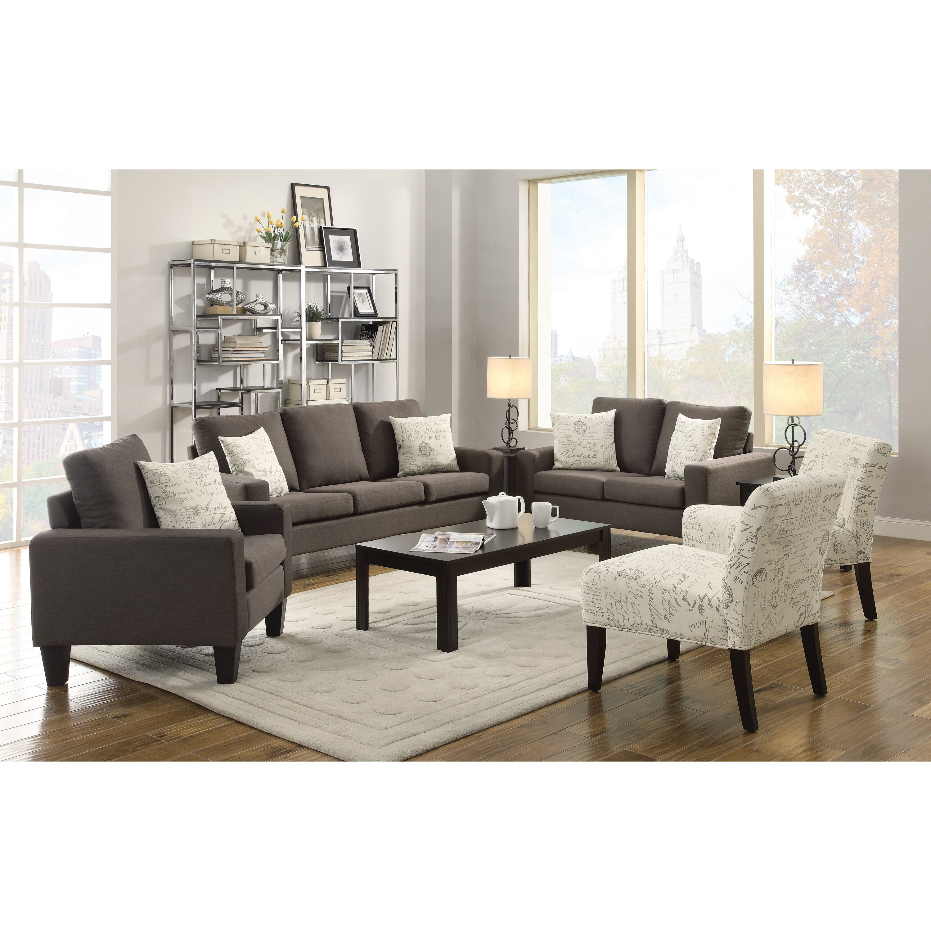 Latitude run living room collection reviews wayfair for Living room furniture modern