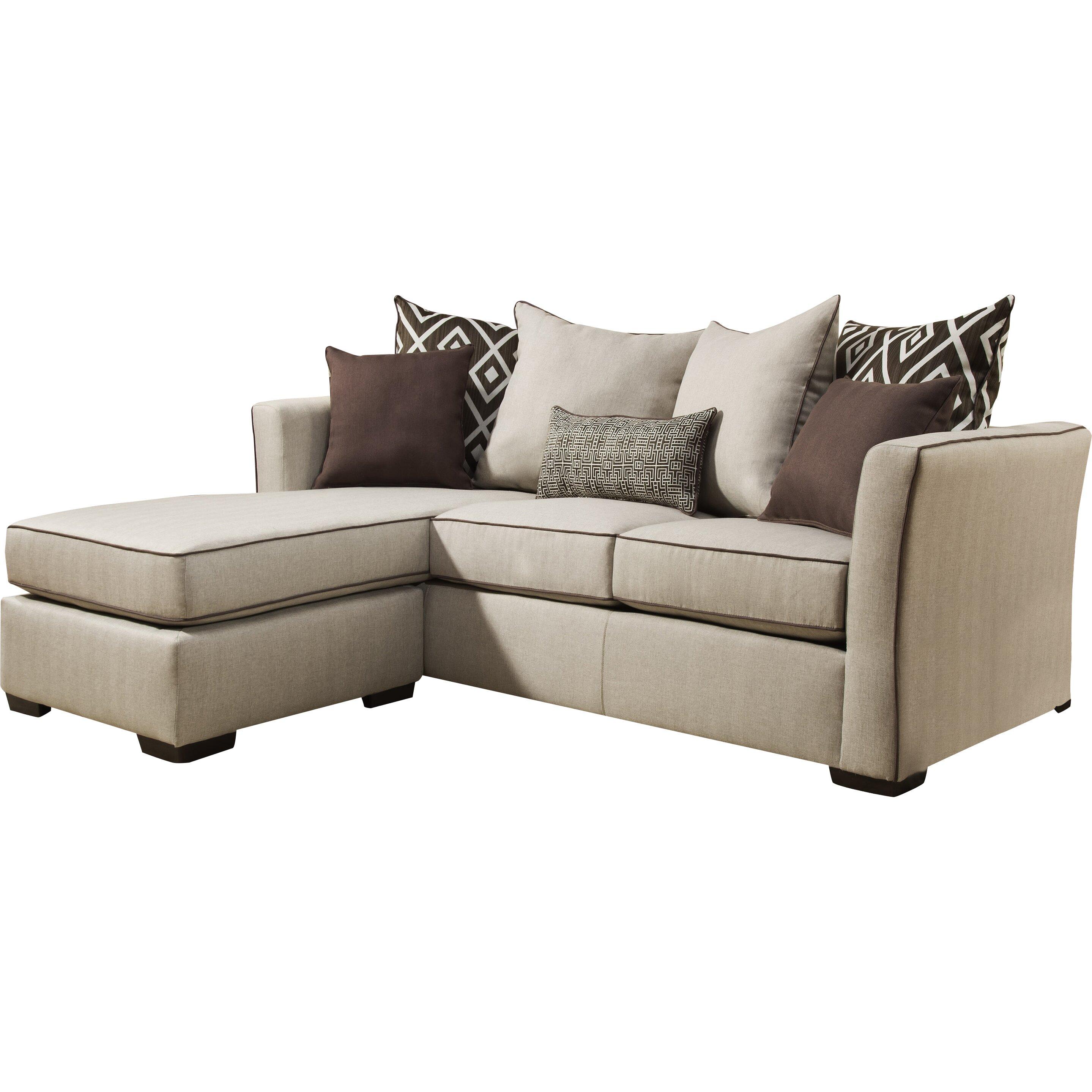 Bobkona Lexington Reversible Chaise Sectional Sofa With