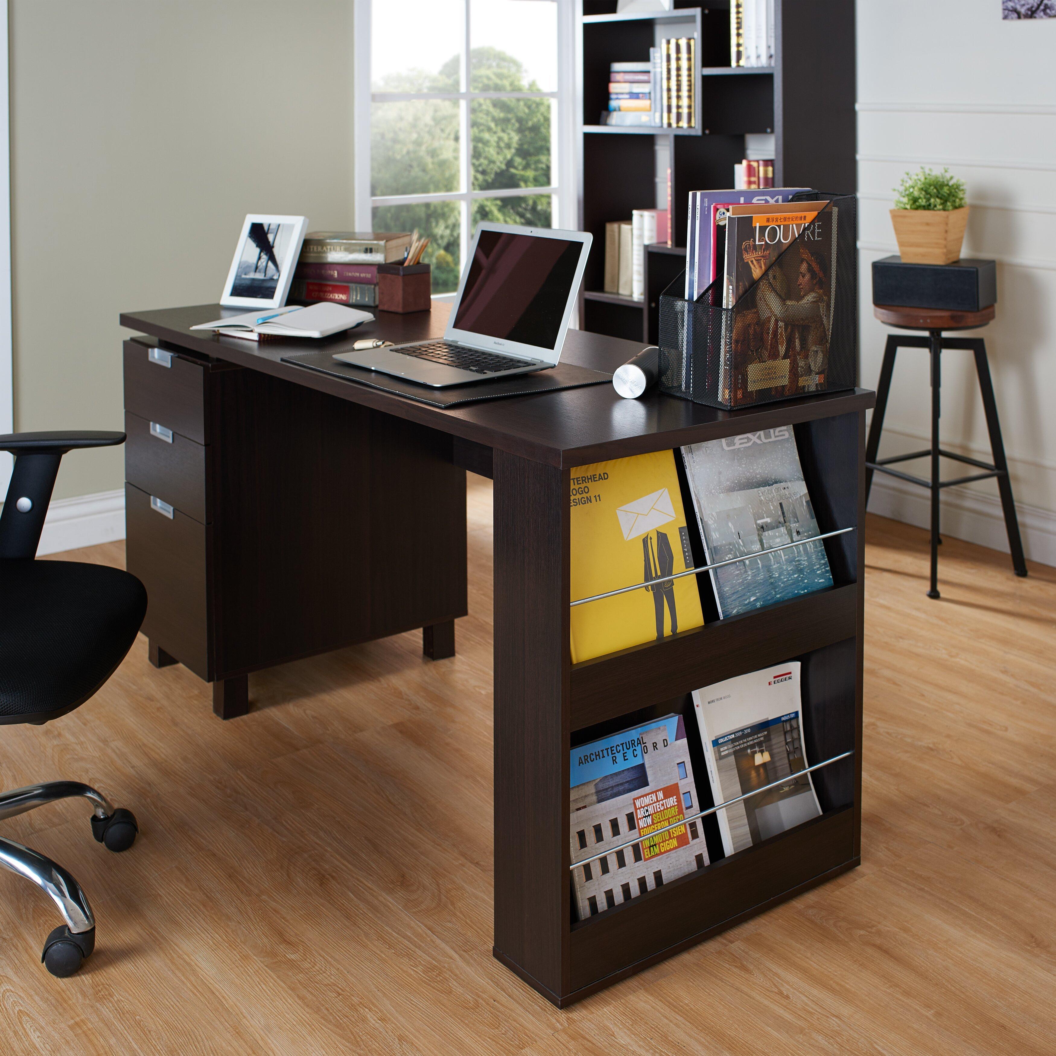 Tuston эспрессо офисный стол со встроенным картотеке компьют.