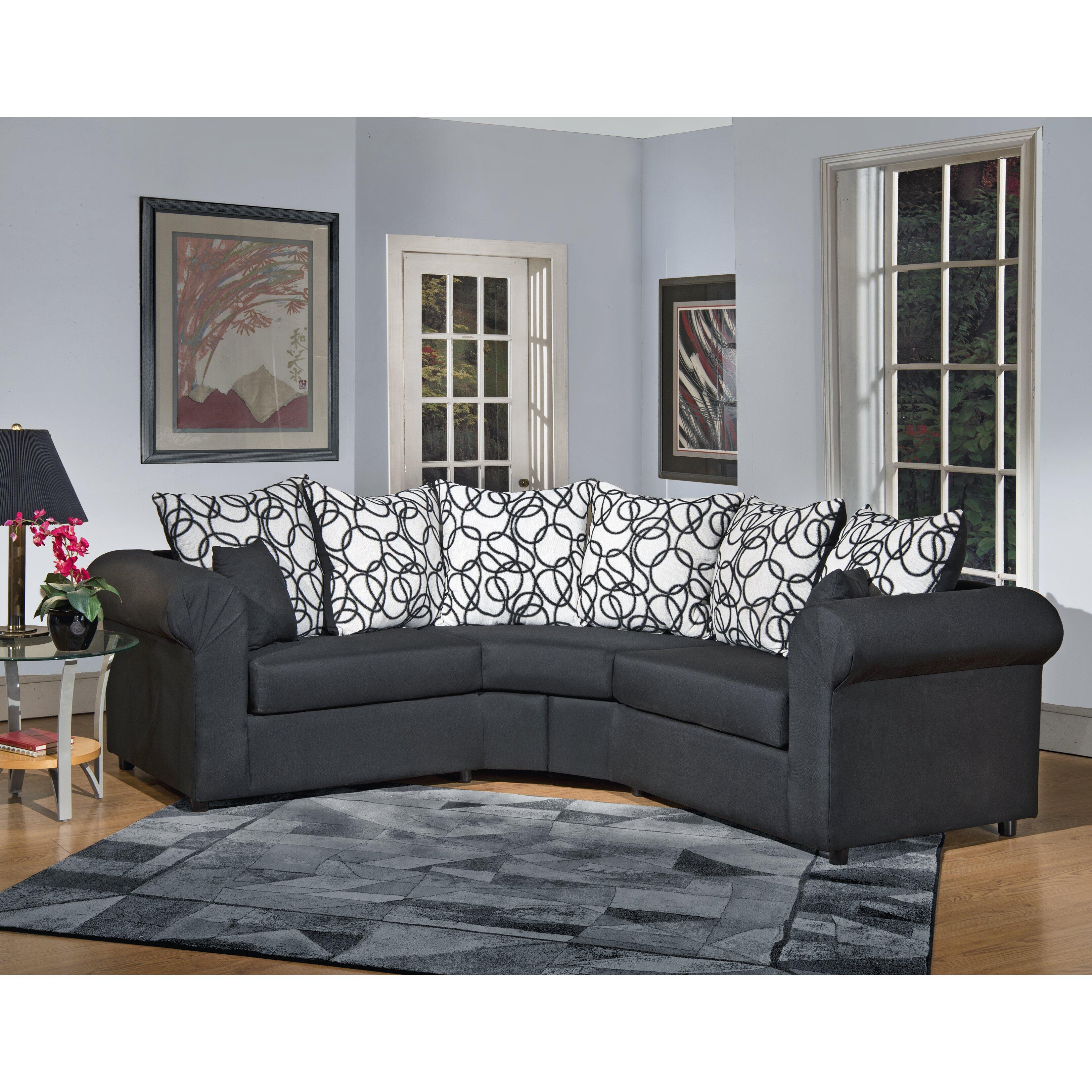 latitude run lila sectional reviews. Black Bedroom Furniture Sets. Home Design Ideas
