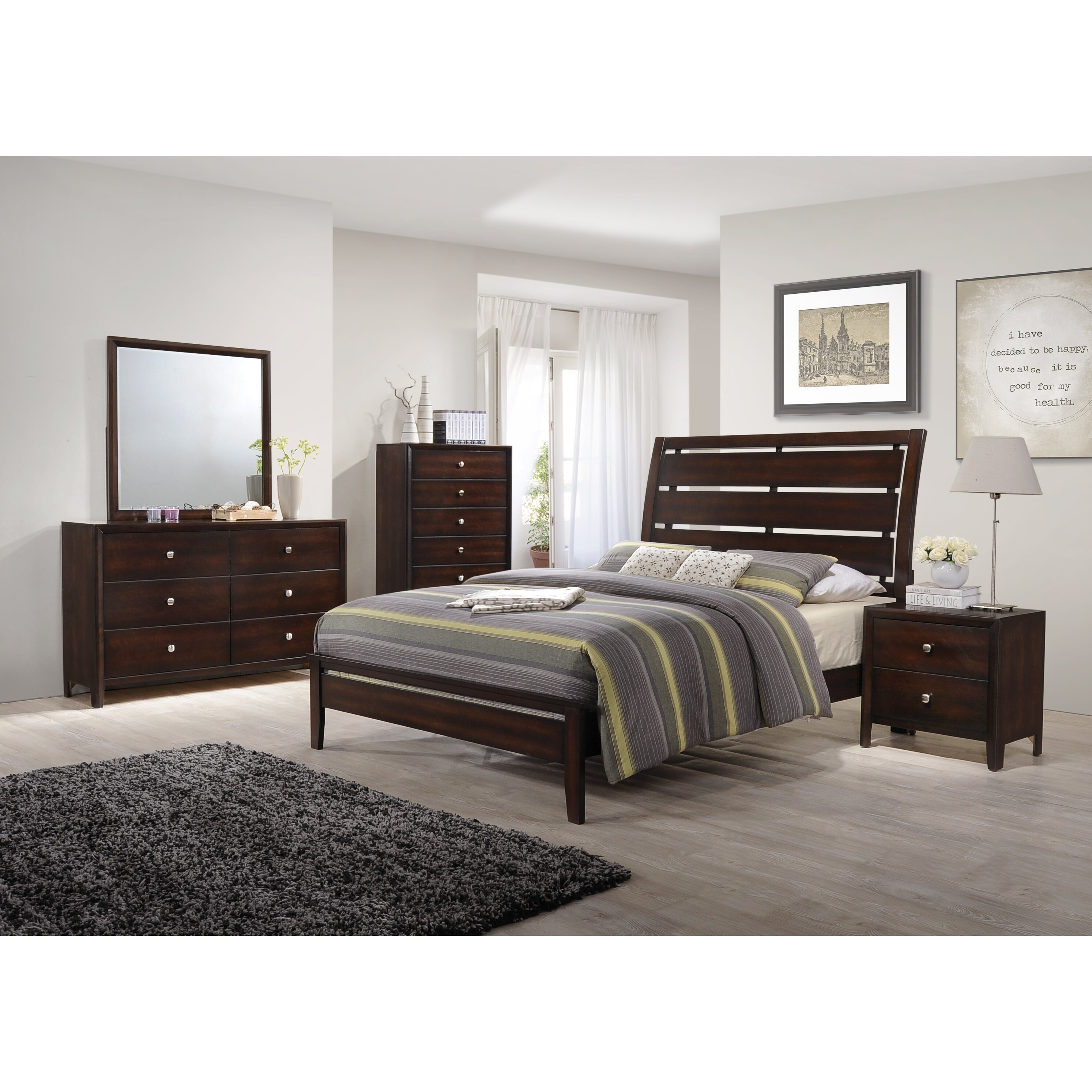 Simmons Bedroom Furniture Latitude Run Simmons Casegoods Chara 6 Drawer Dresser Reviews