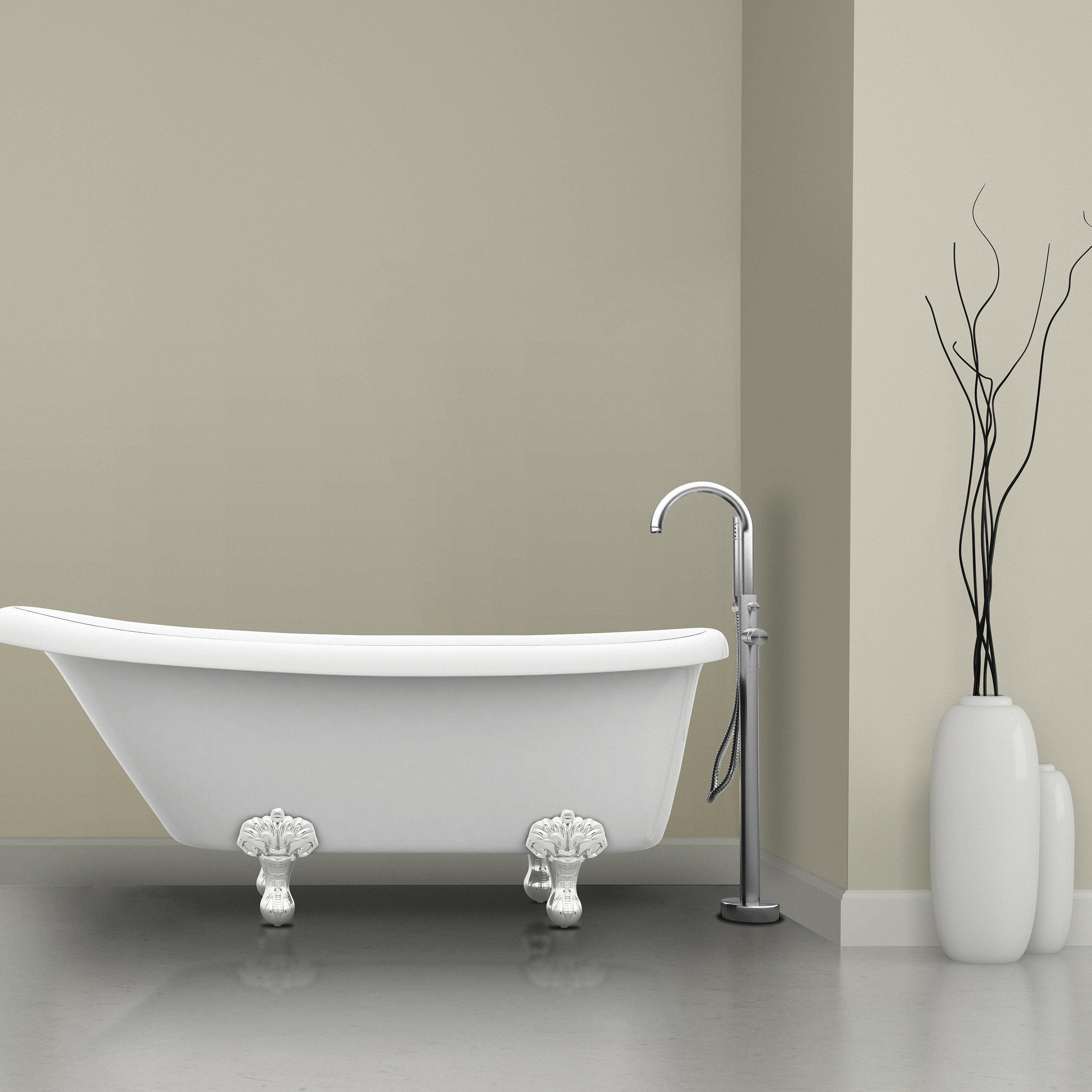Ancona Prima Single Handle Floor Mount Bathtub Faucet With