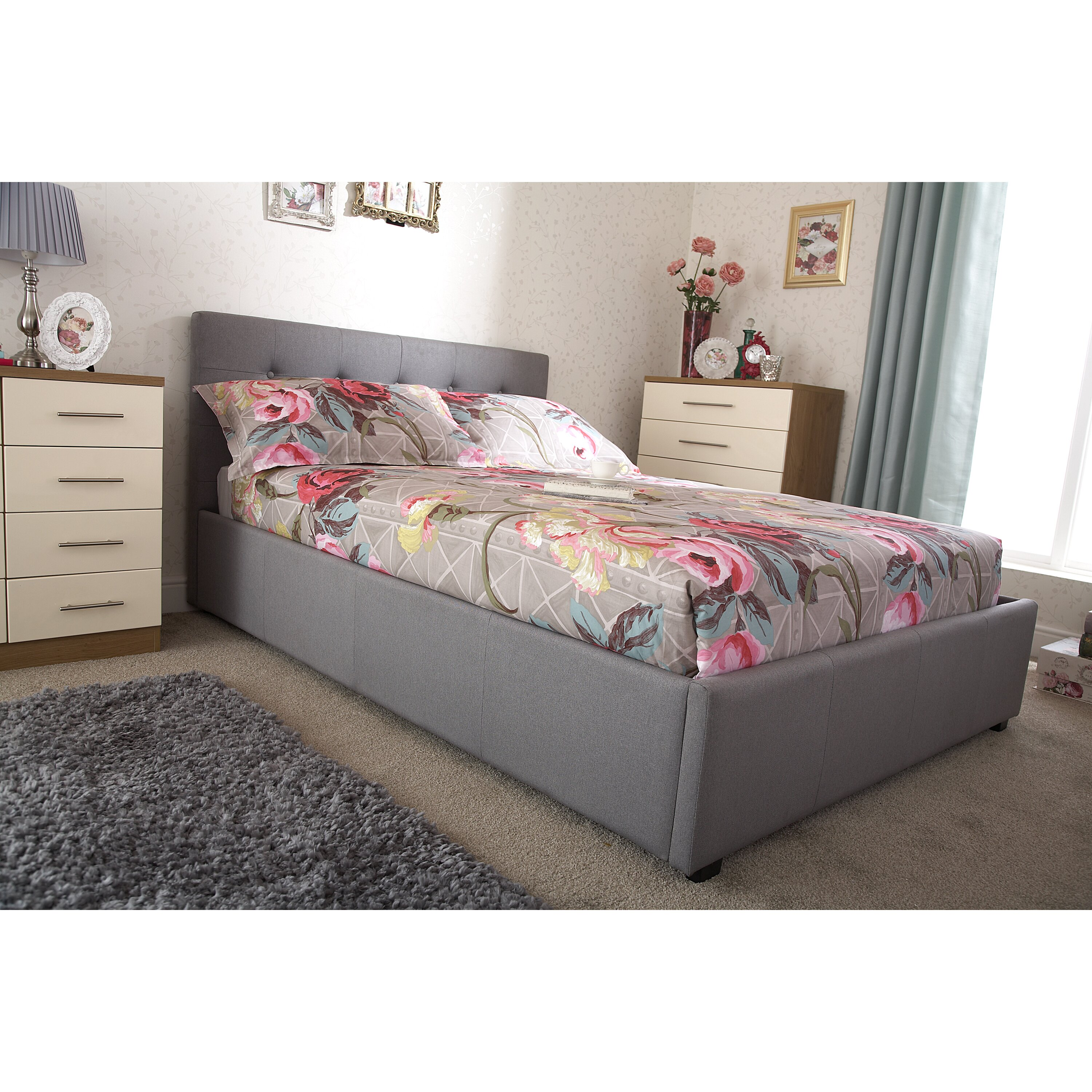 Ottoman For Bedroom Mercury Row Adhafera Upholstered Ottoman Bed Frame Reviews