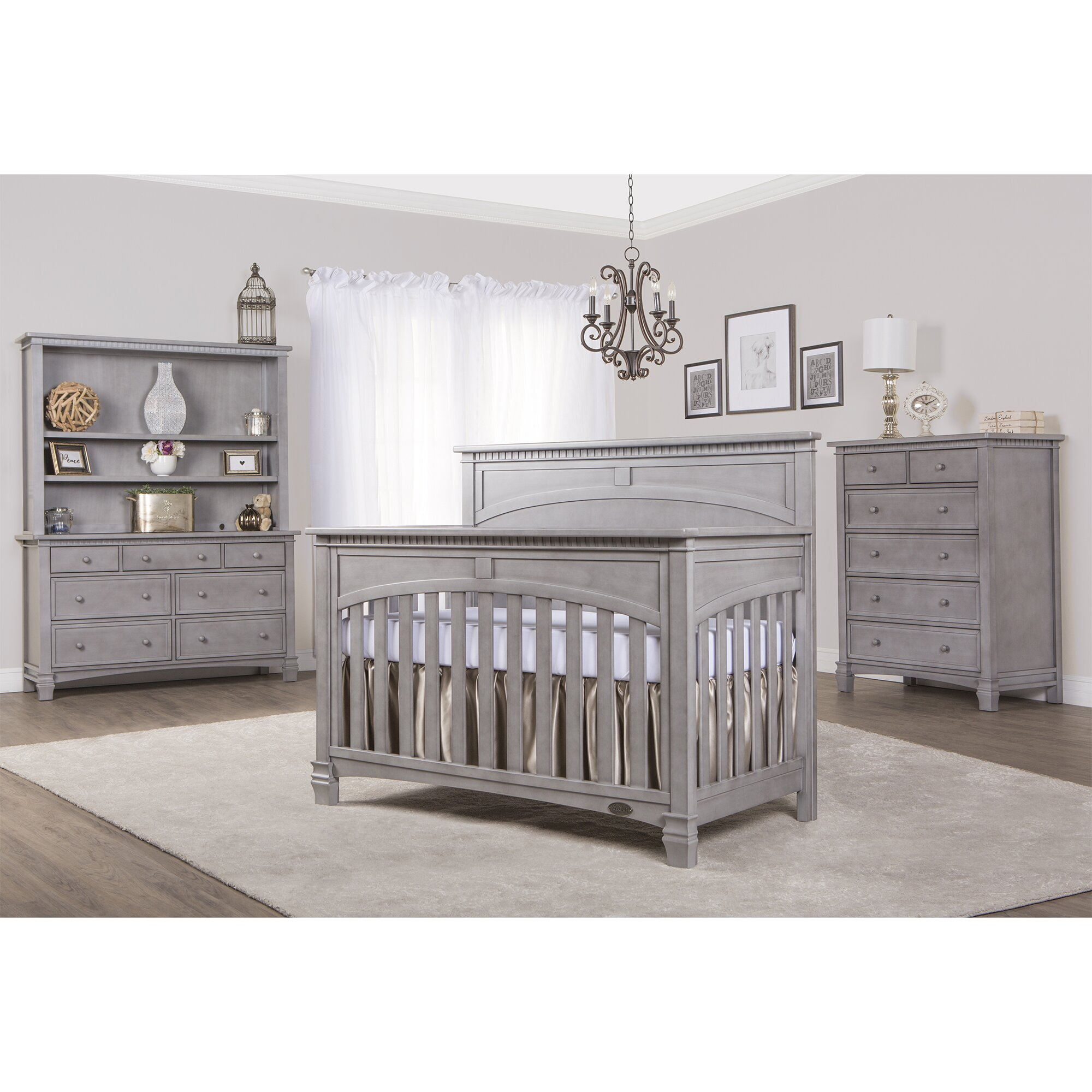 Baby cribs staten island - Evolur Santa Fe 5 In 1 Convertible Crib