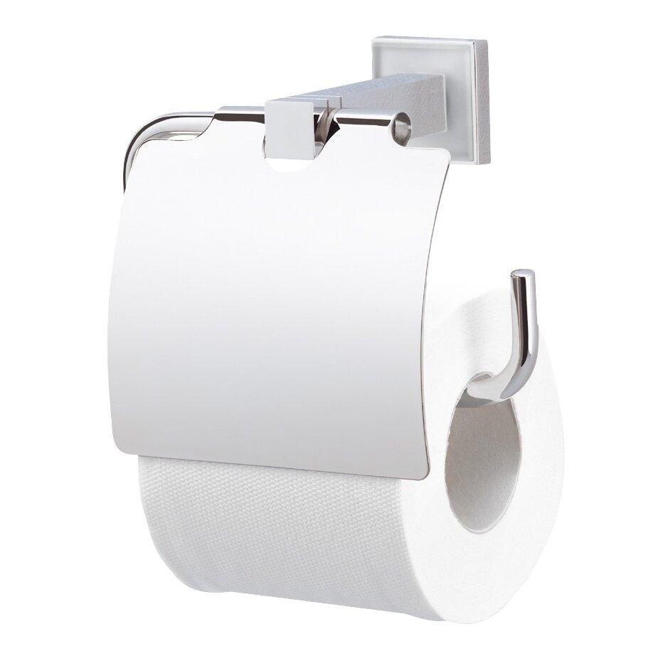 Valsan cubis plus wall mounted toilet roll holder wayfair Glass toilet roll holder