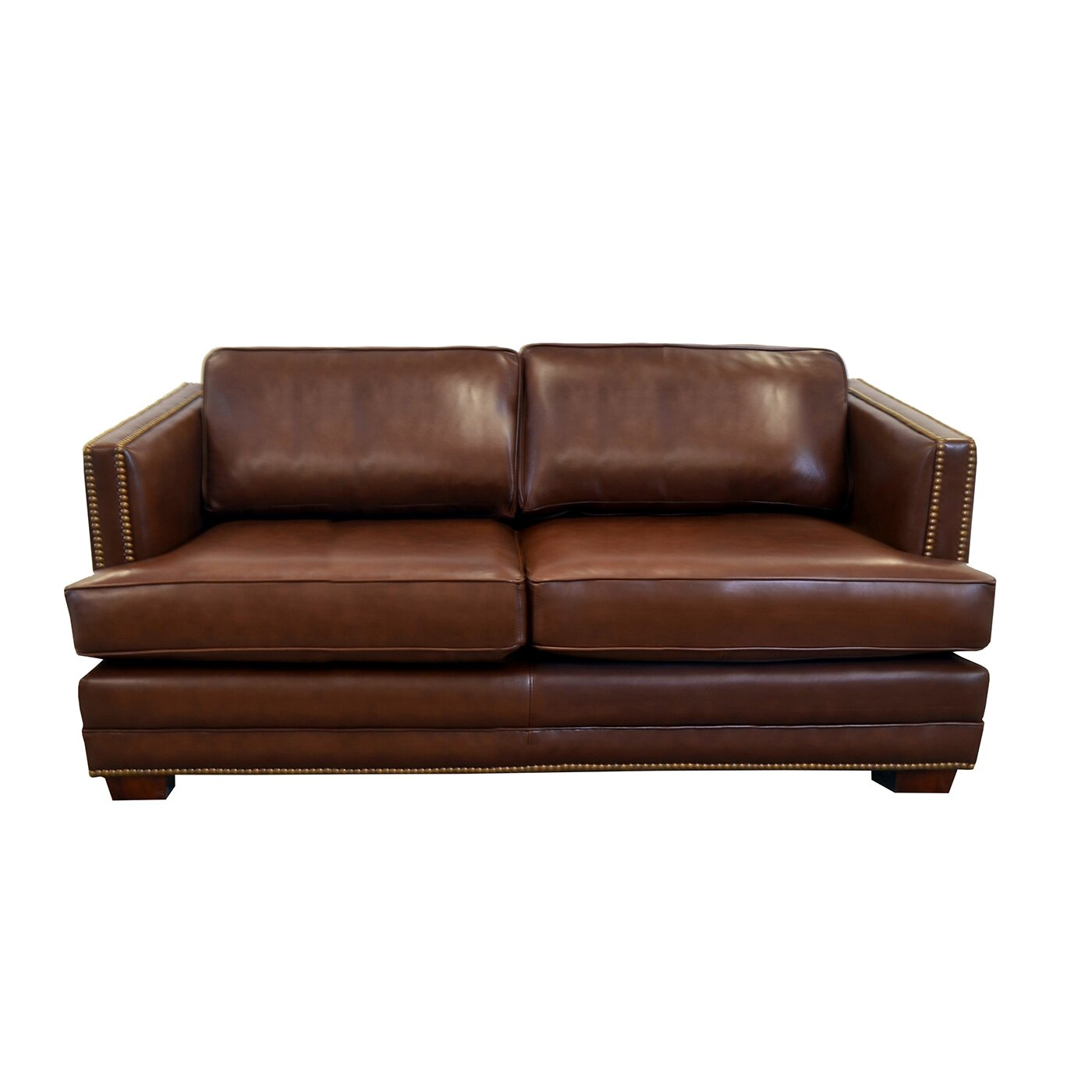 Genuine Leather Sectional Sofa Canada: Westland And Birch Millbury Genuine Top Grain Leather Sofa