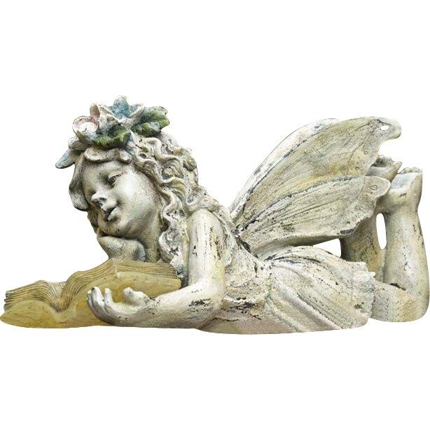 Wind weather solar reading fairy garden statue reviews wayfair - Reading fairy garden statue ...
