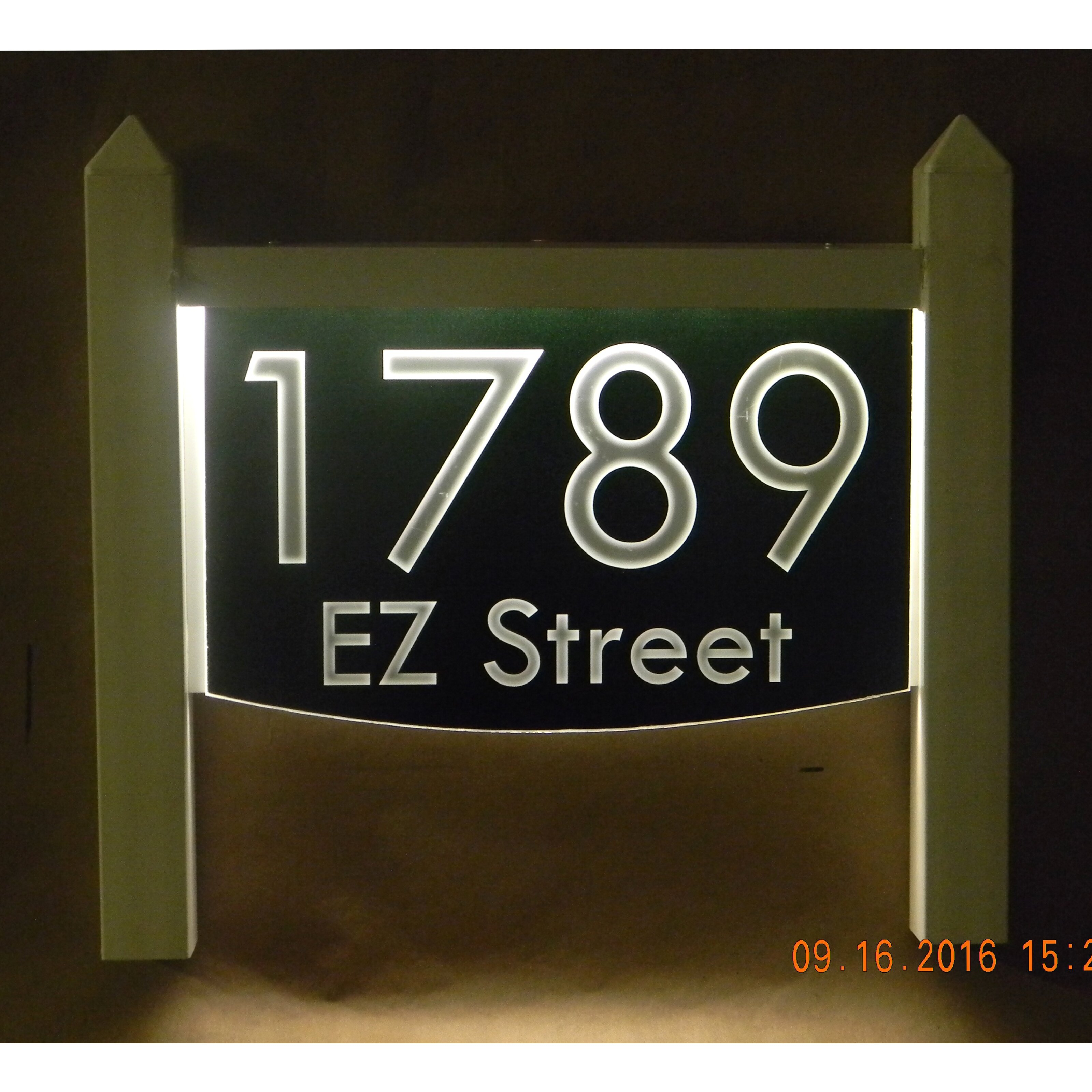 2 line lawn address sign