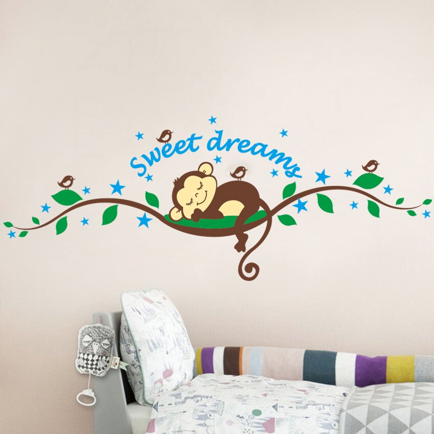 RetailSource Imagineer Sweet Dreams Monkey Wall Decal
