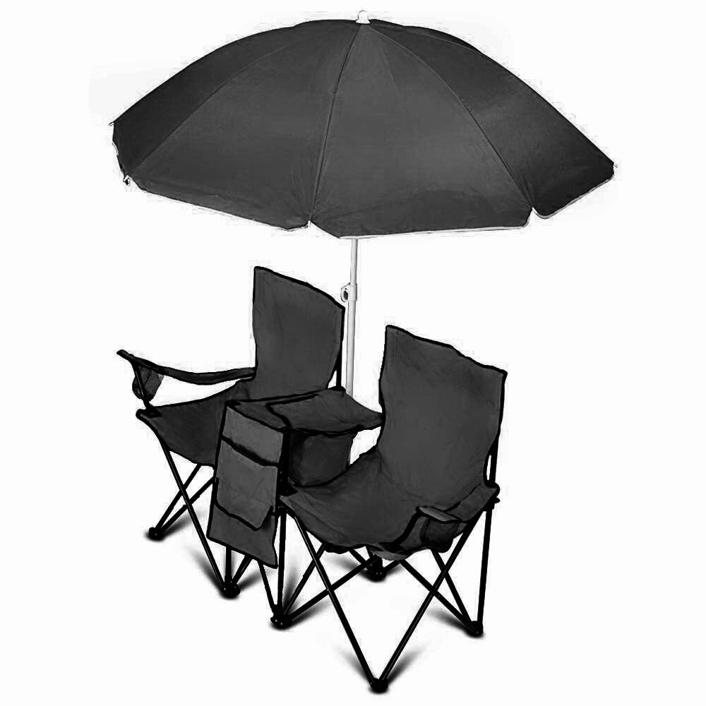 Camping chairs with umbrella - Vandue Corporation Goteam Portable Double Folding Camping Chair