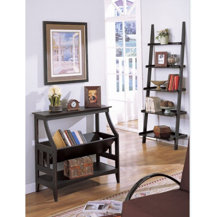 A J Homes Studio Bakersfield Magazine Table And Wall Shelf