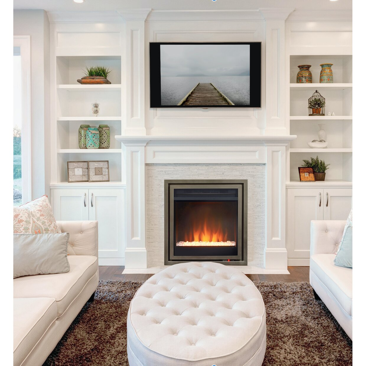 Pacific Heat Wall Mount Electric Fireplace Insert