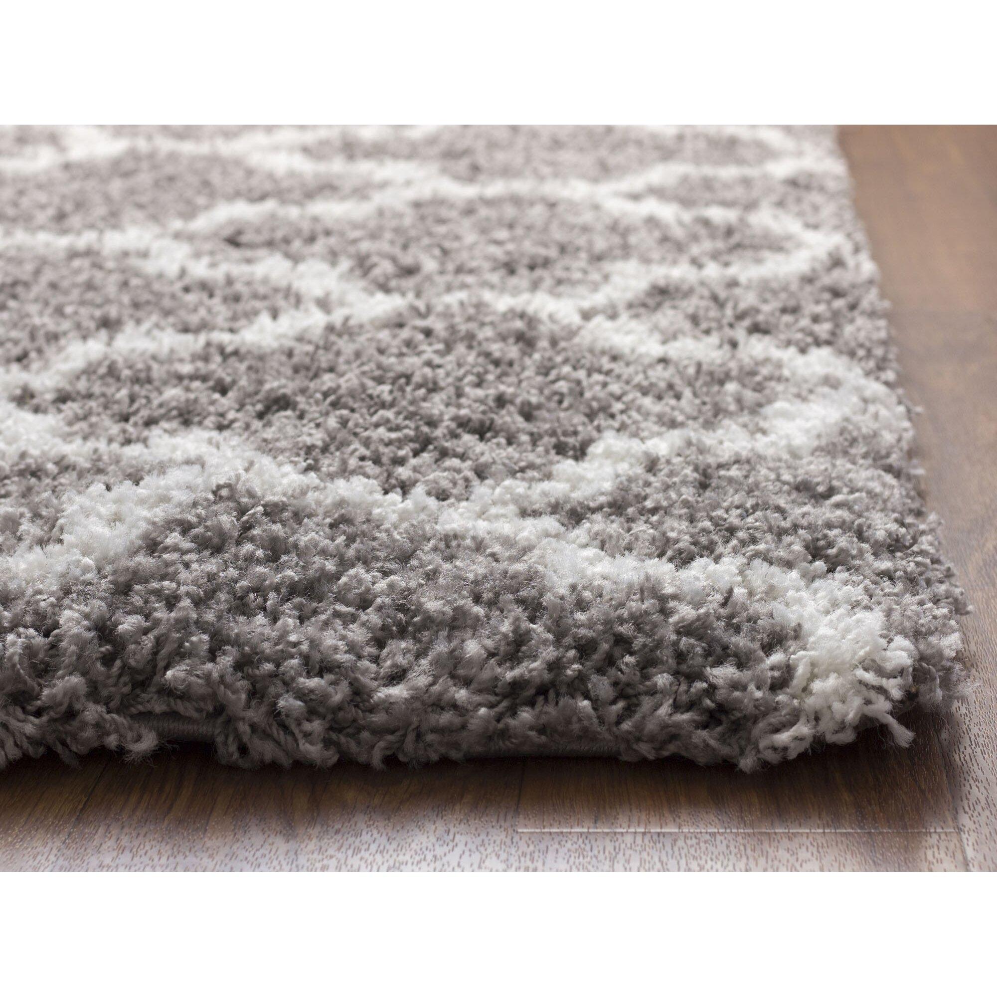 Super Area Rugs Gray/White Area Rug