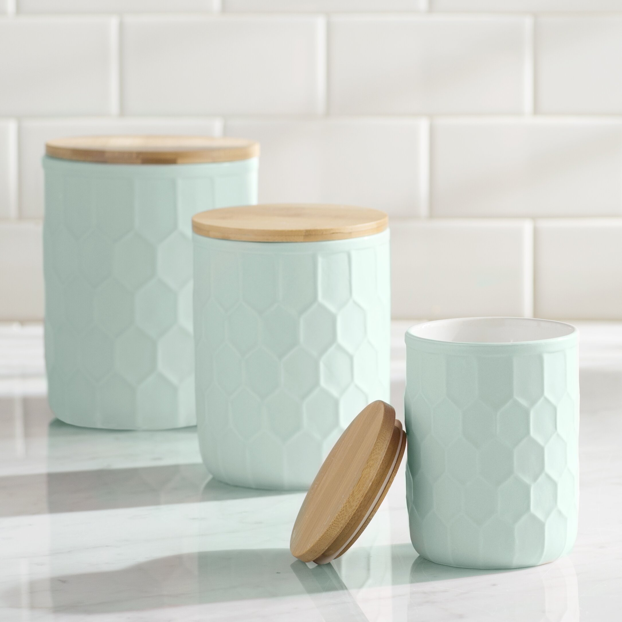Green Canister Sets Kitchen