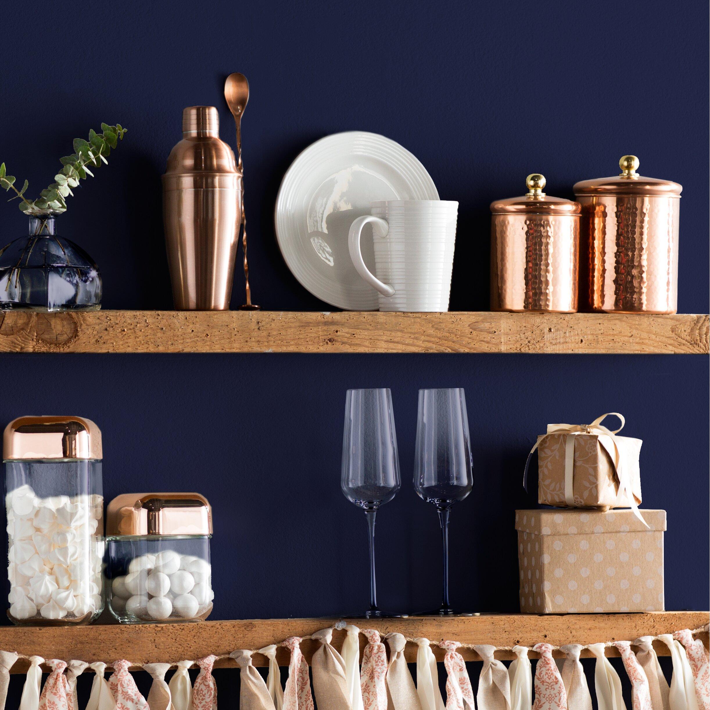 kitchen canisters blue finest vintage atlas whole fruit glass