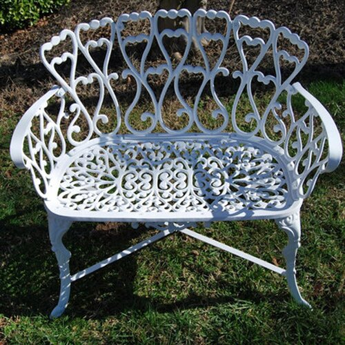 PierSurplus Victorian Cast Aluminum Garden Bench Reviews Wayfair