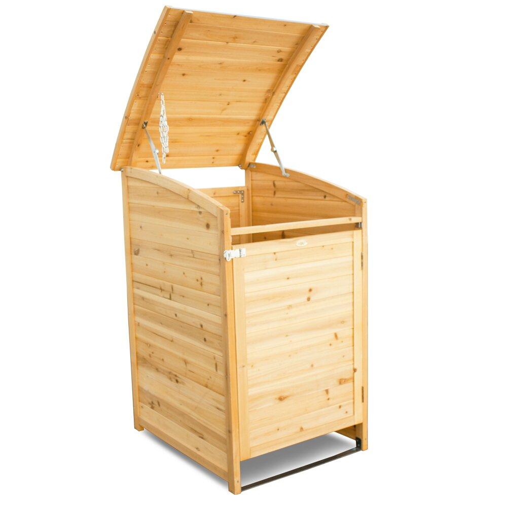 habau 124 x 81 cm m lltonnenbox aus holz bewertungen. Black Bedroom Furniture Sets. Home Design Ideas