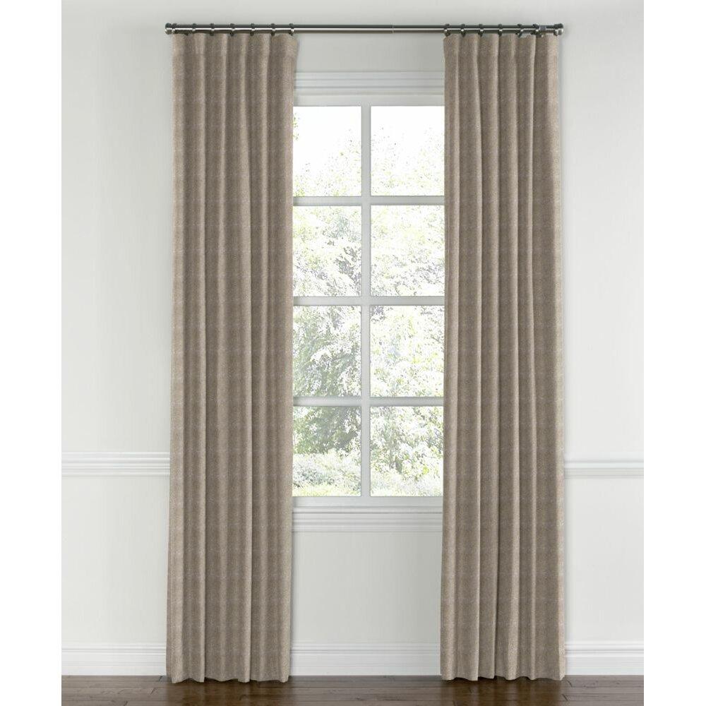 loom decor blackout single curtain panel wayfair