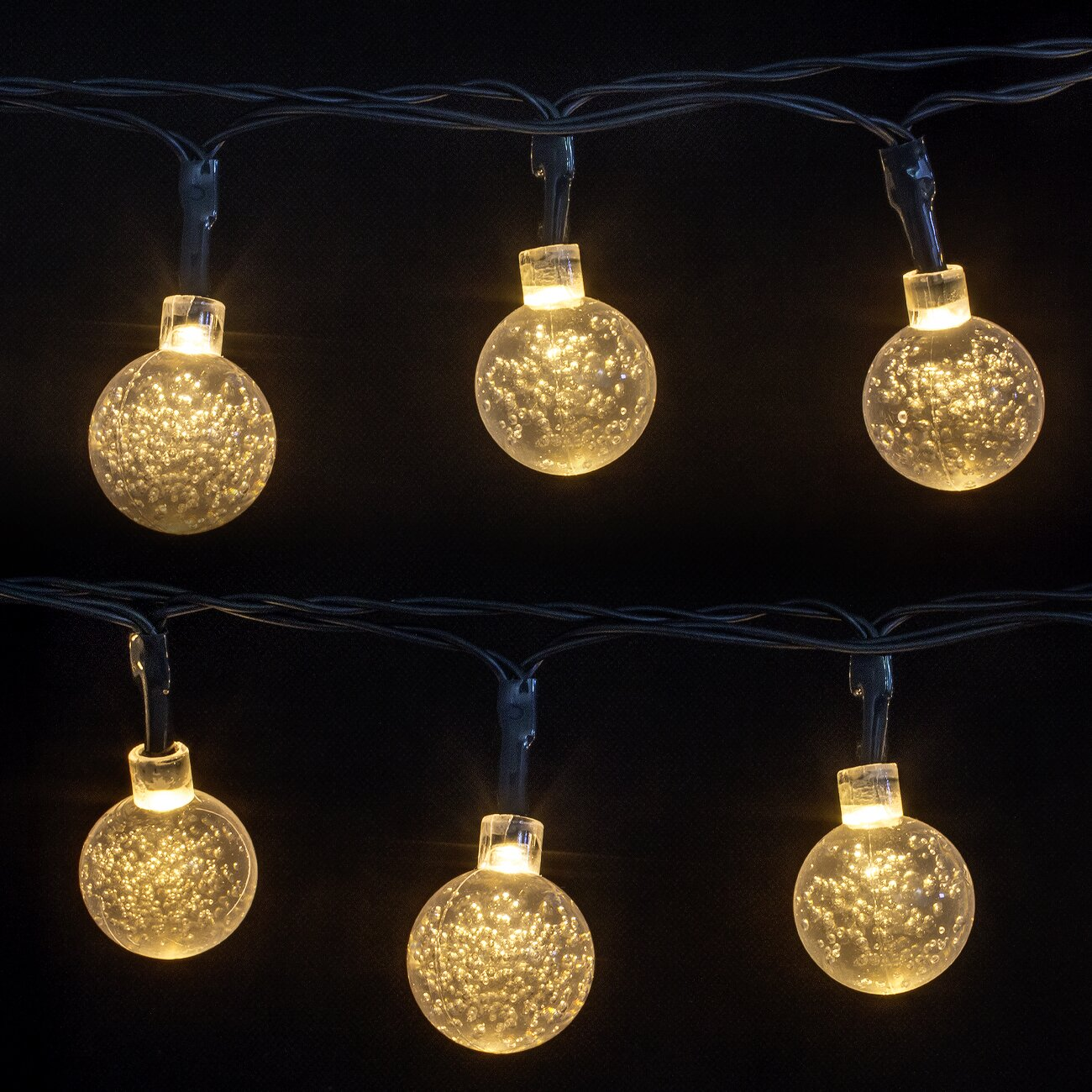 led concepts 30 light 16 ft globe string lights reviews wayfair. Black Bedroom Furniture Sets. Home Design Ideas