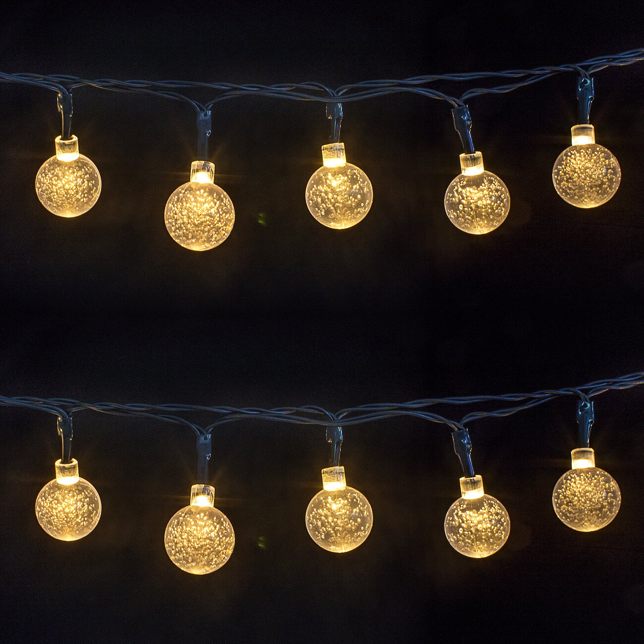 String Lights In Office: LED Concepts 30-Light 16 Ft. Globe String Lights & Reviews