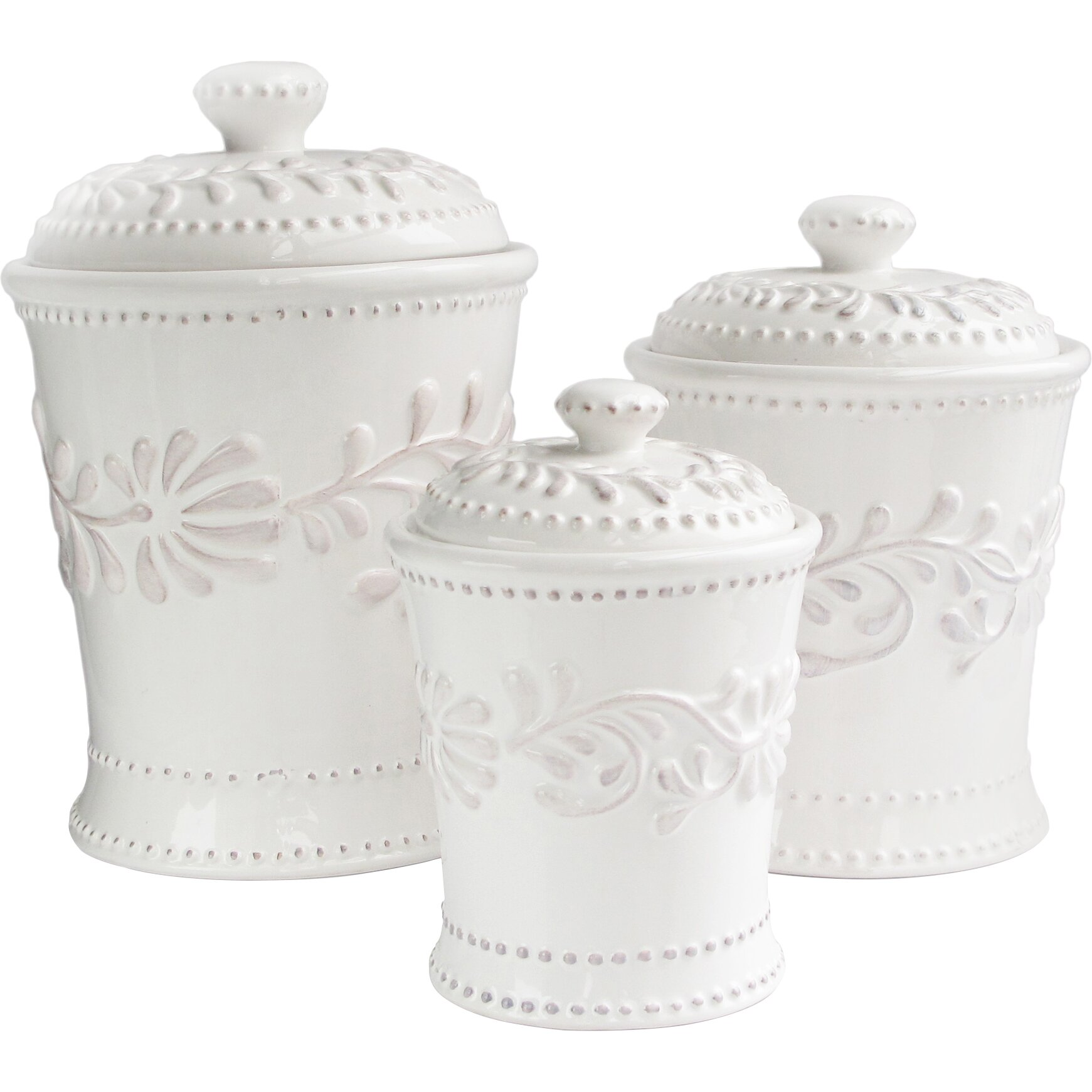 Designer Kitchen Canister Sets Kitchen Canisters Jars Youll Love Wayfair