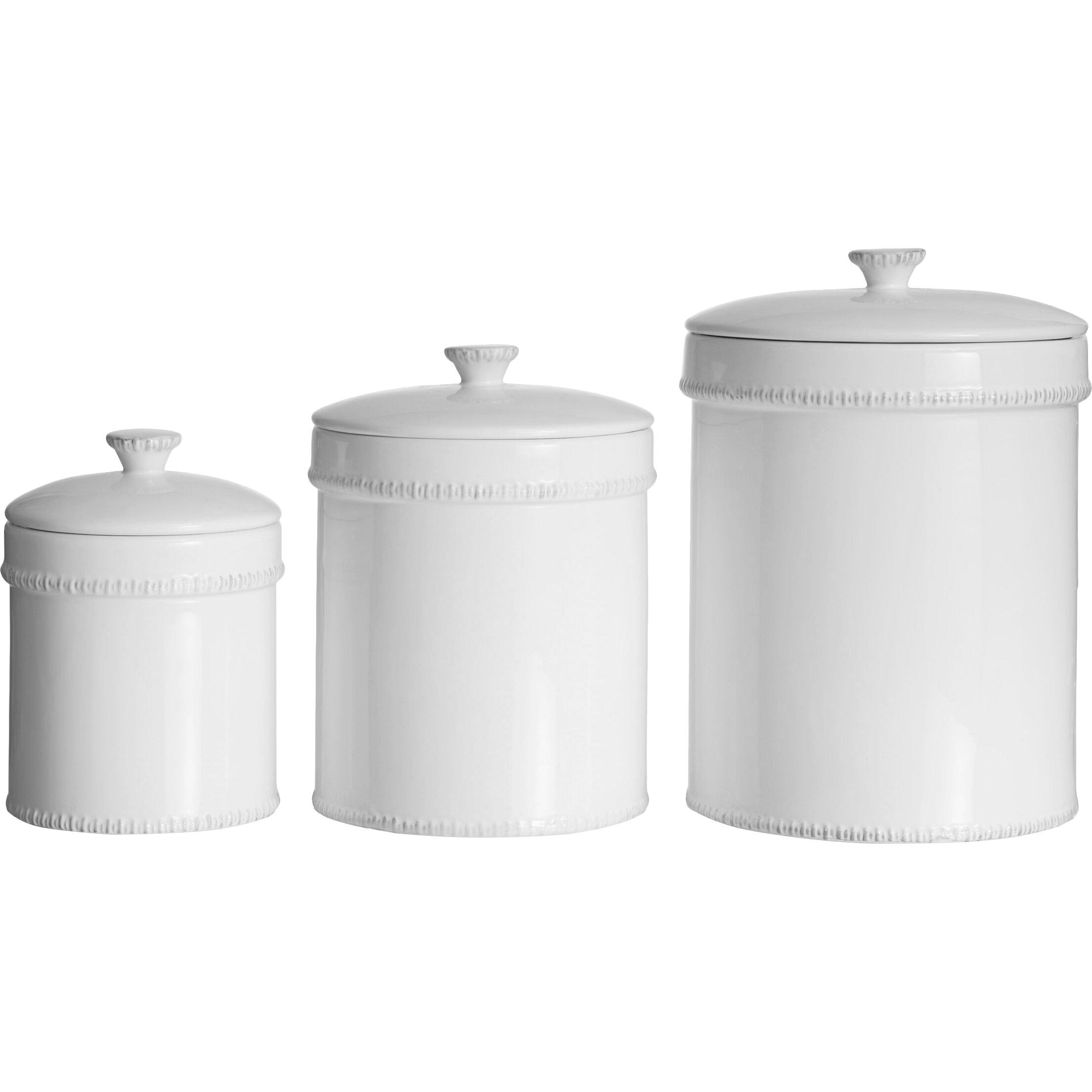 Modern Kitchen Canister Sets Design Guild Bianca 3 Piece Kitchen Canister Set Reviews Wayfair