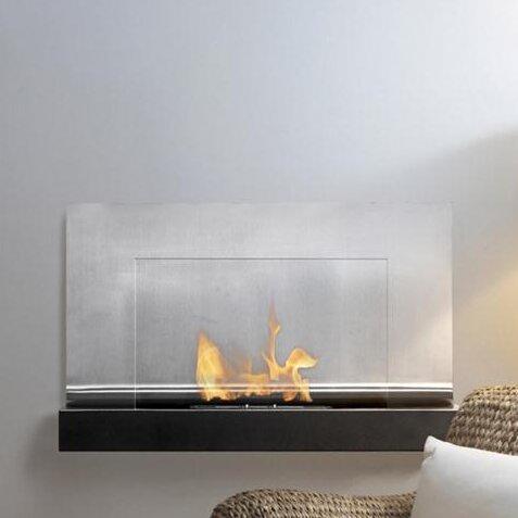 Ignis ferrum wall mount ethanol fireplace for Wayfair gel fireplace