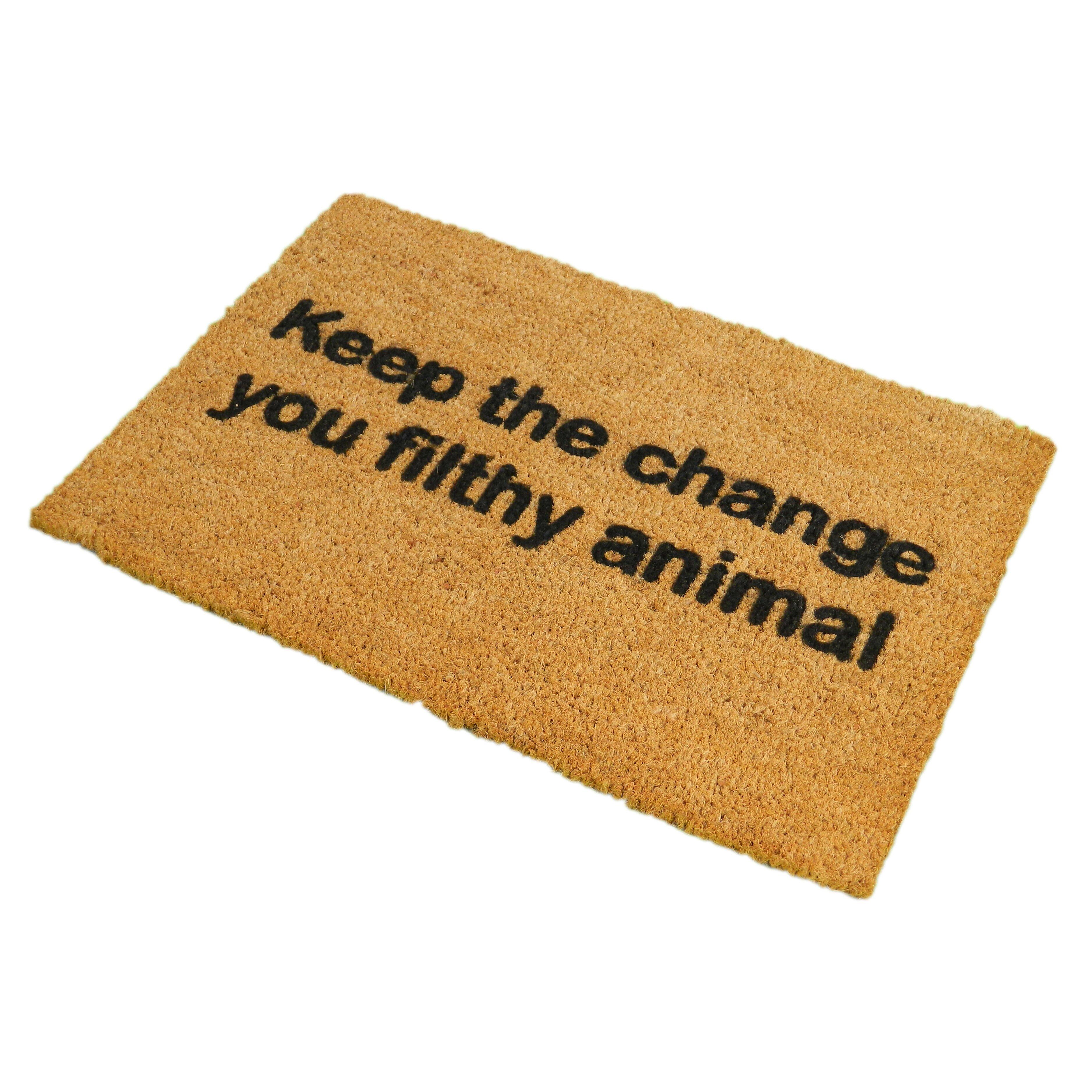 Artsy Doormats Keep The Change Doormat