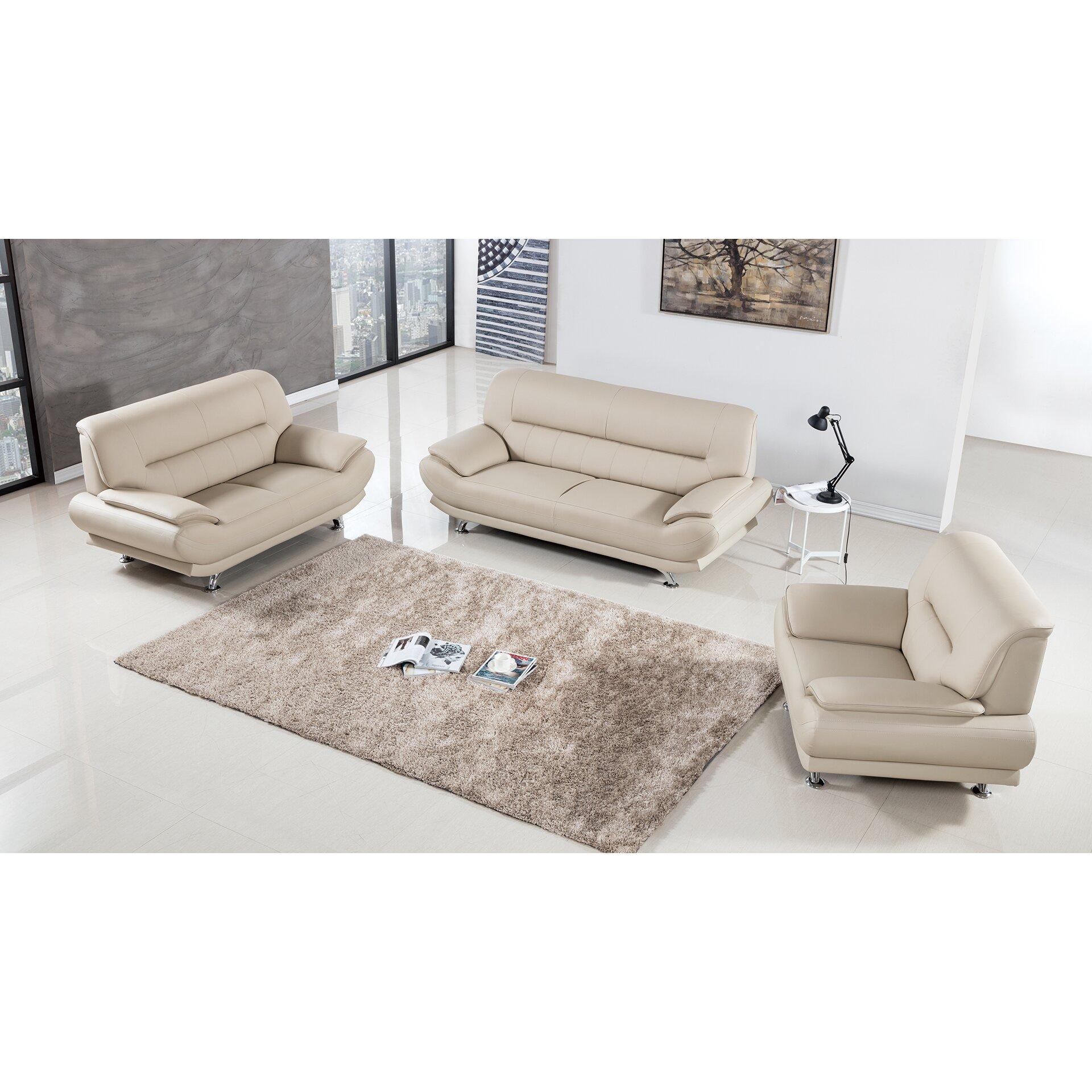 mason 3 piece living room set & reviews | allmodern