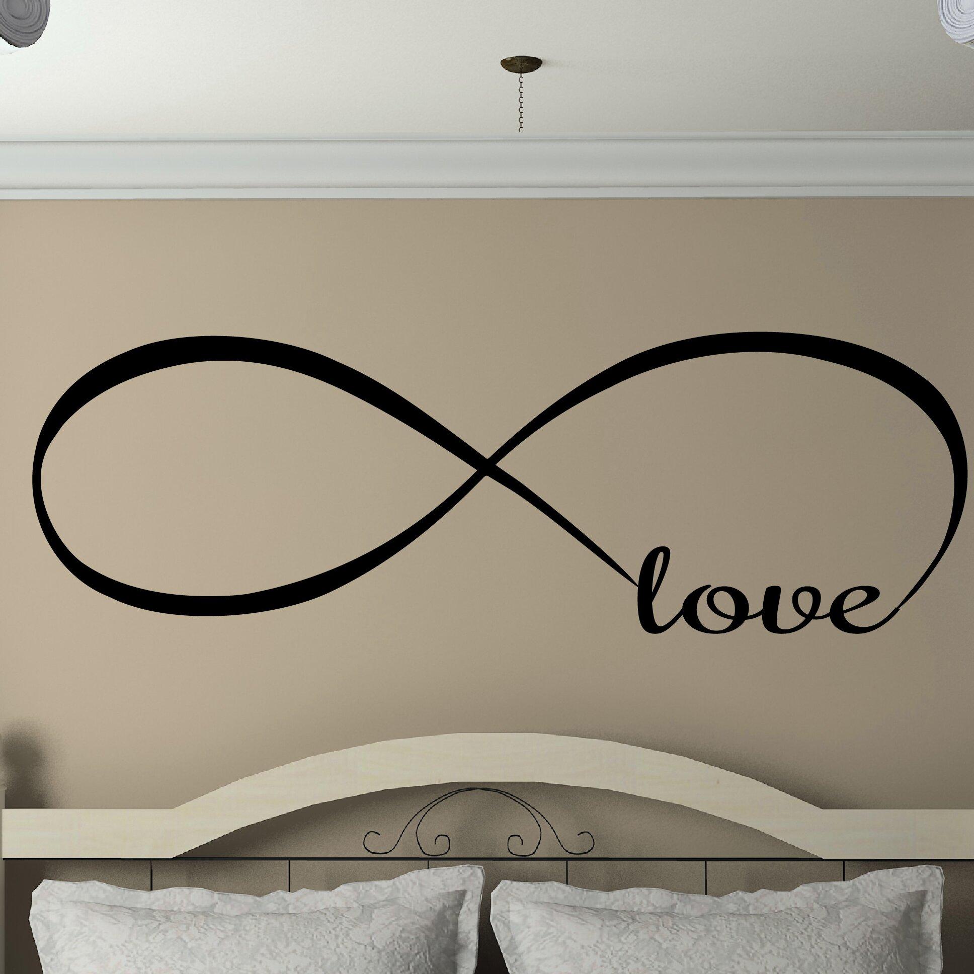 Davis vinyl designs infinity love wall decal reviews for Vinyl window designs complaints