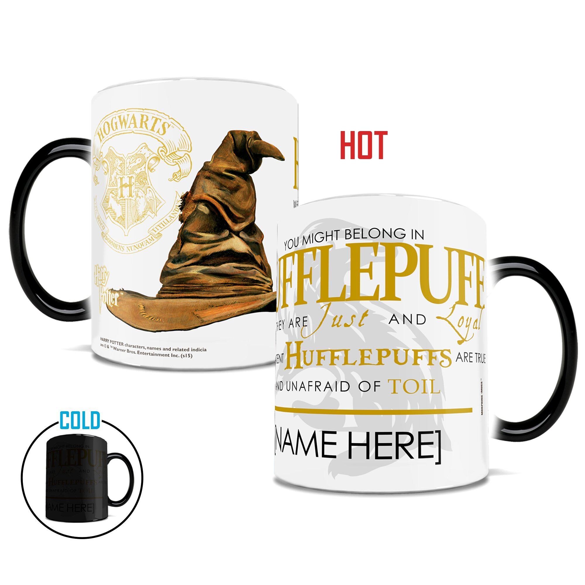 Morphing Mugs Harry Potter Sorting Hat Hufflepuff