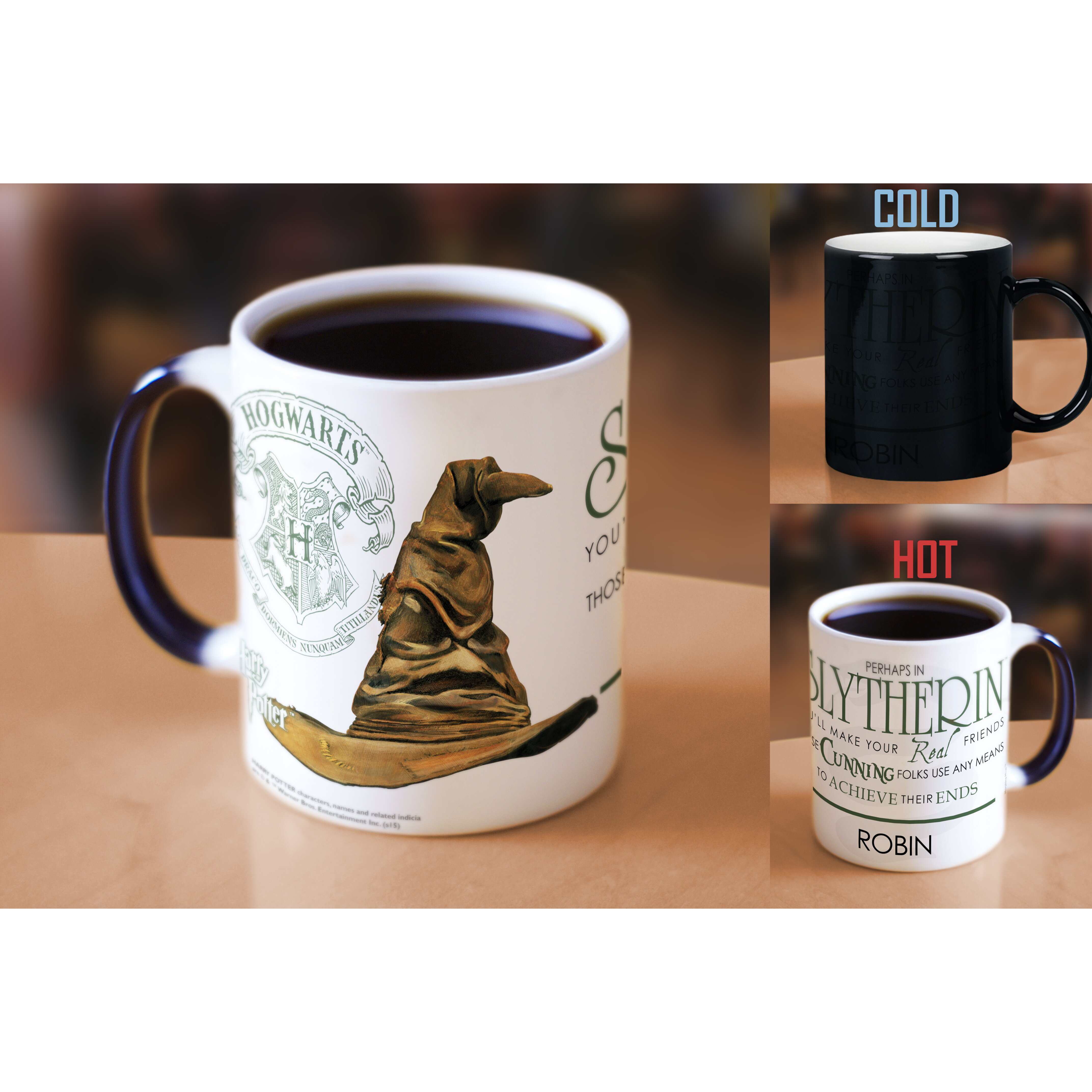 Morphing Mugs Harry Potter Sorting Hat Slytherin