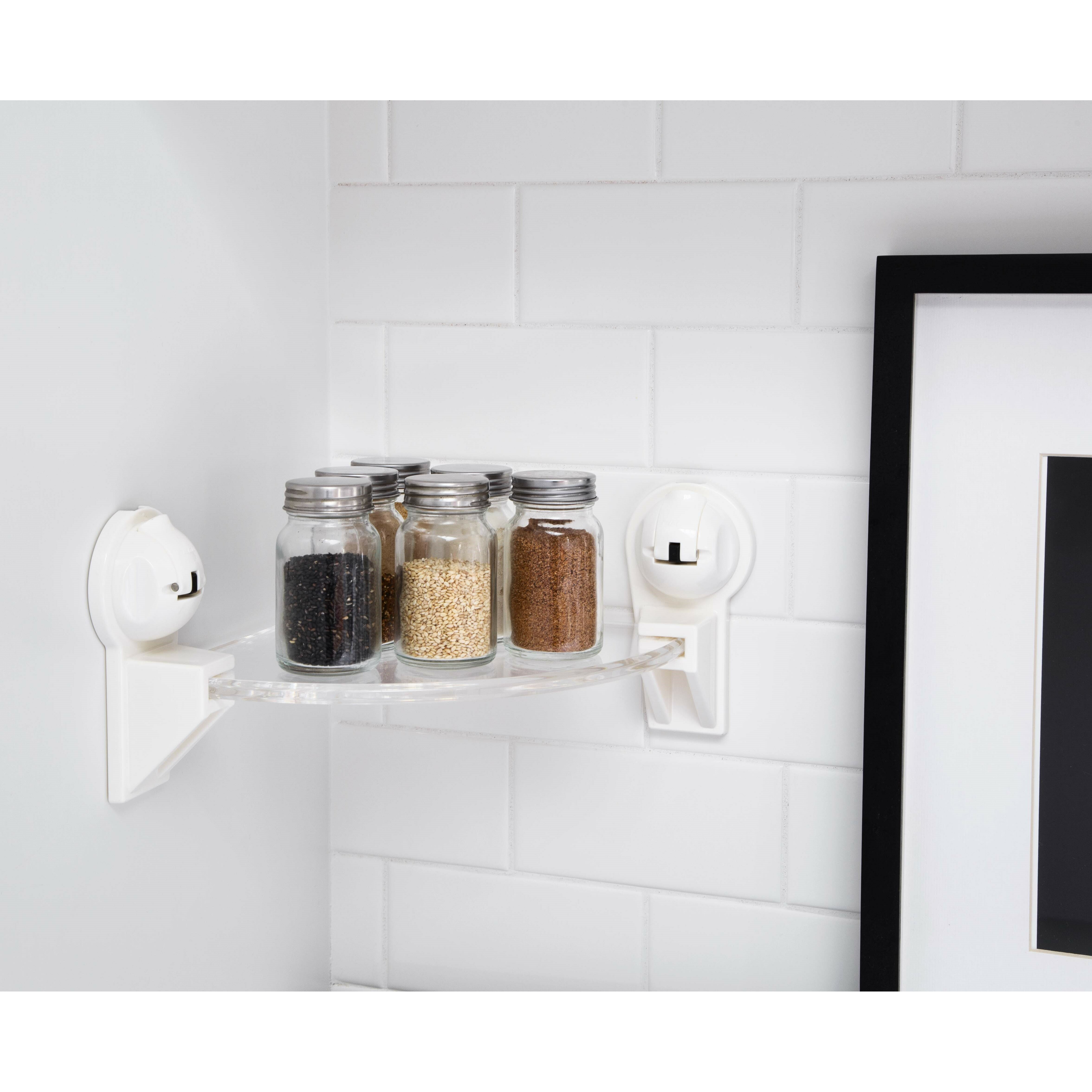 Suction Cup Bathroom Accessories Feca Triangular Corner With Powerful Suction Cup 1363 W Shelf