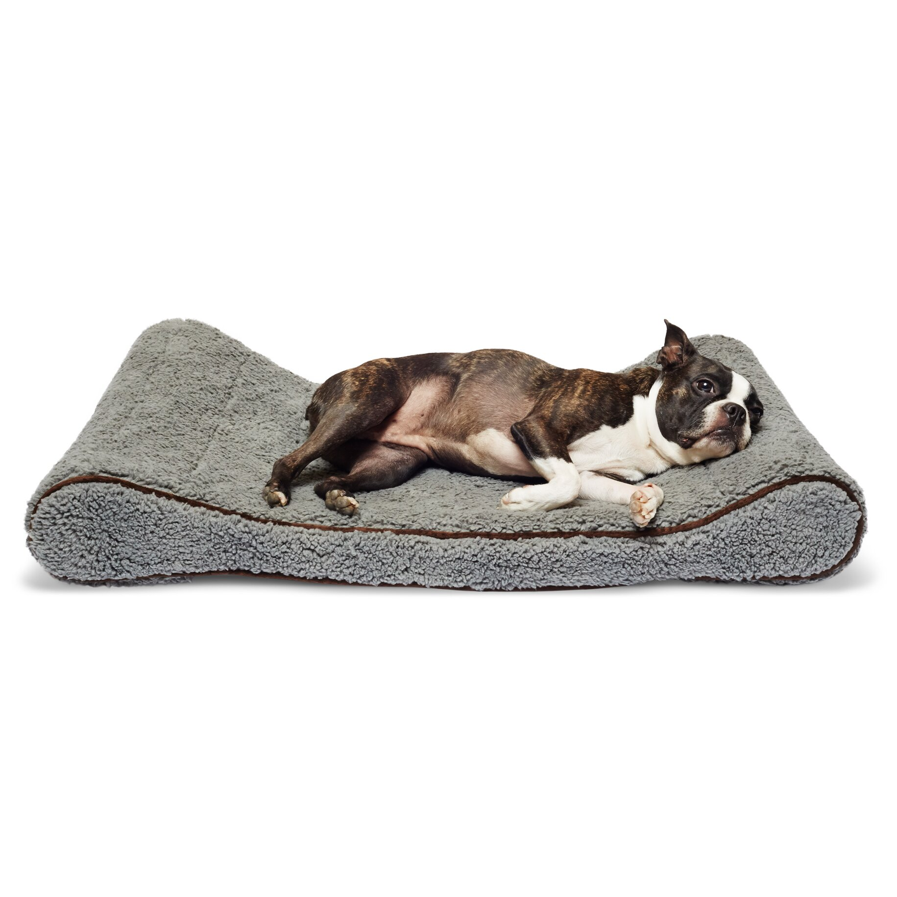 Best bathroom fans - Sherpa Top Memory Foam Orthopedic Contoured Lounger Bolster Dog Bed By