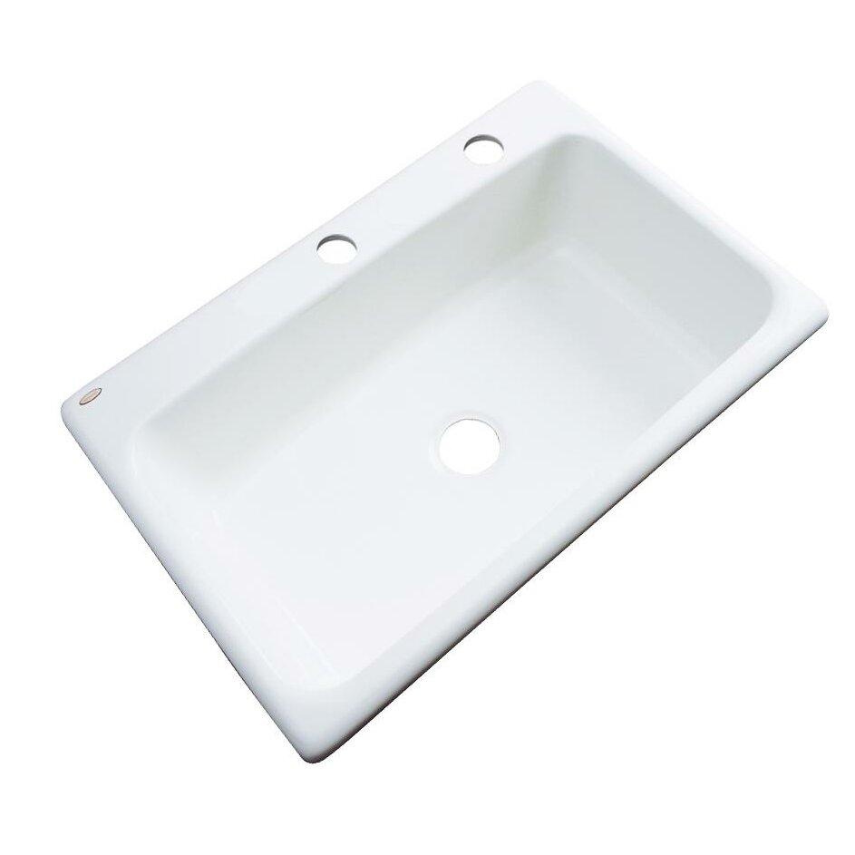 Kitchen Sink Solidcast Wilmington 33 X 22 Kitchen Sink Reviews Wayfair