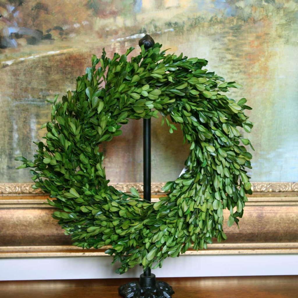 Preserving Tree Branches For Decoration Flora Decor Preserved Boxwood Wreath Reviews Wayfair