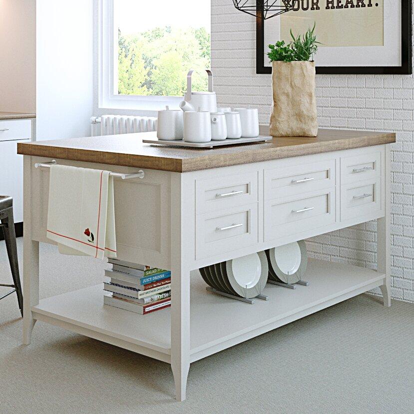 222 Fifth Furniture Gramercy Kitchen Island Wayfair