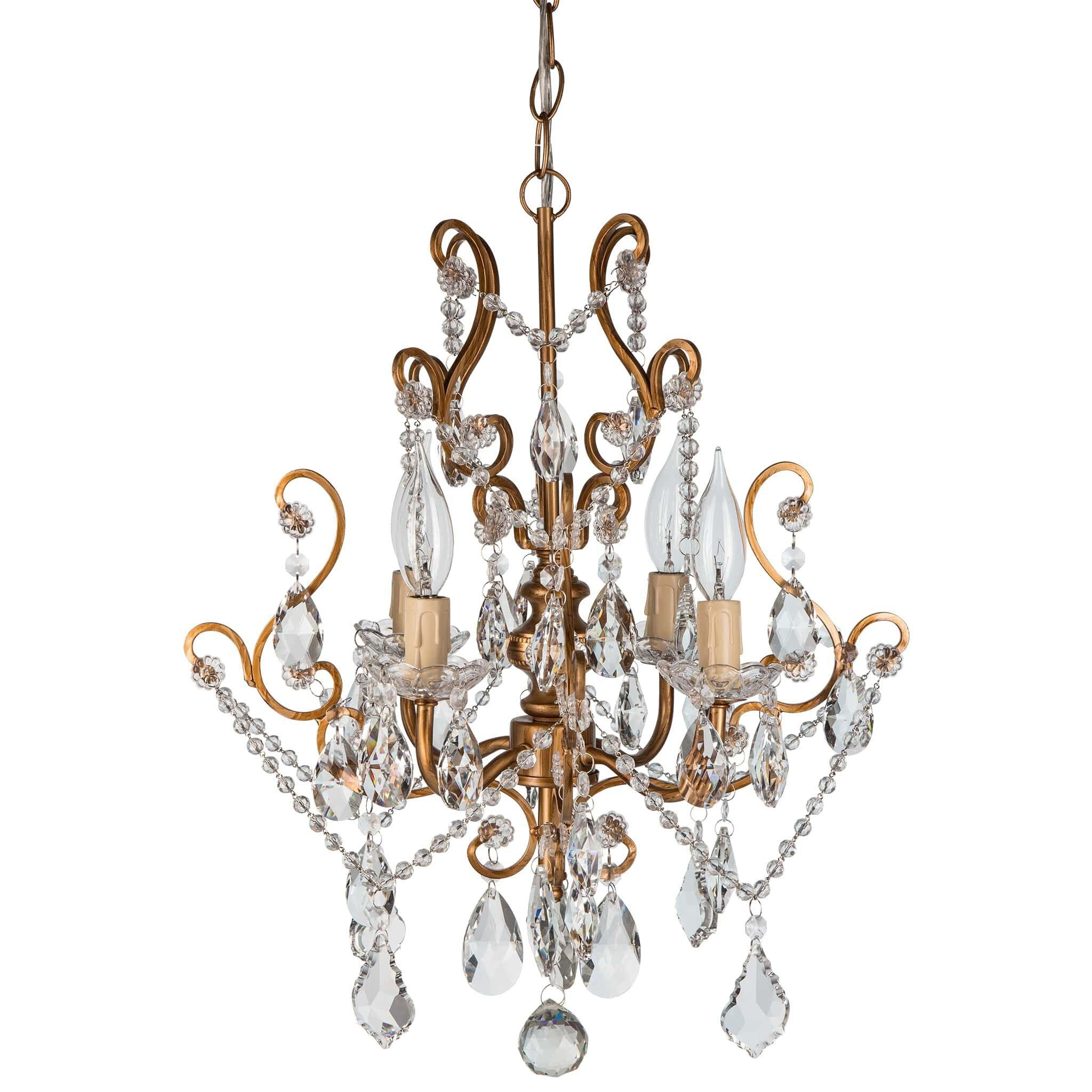 AmalfiDecor Tiffany 4Light Crystal Chandelier Reviews – Chrystal Chandelier