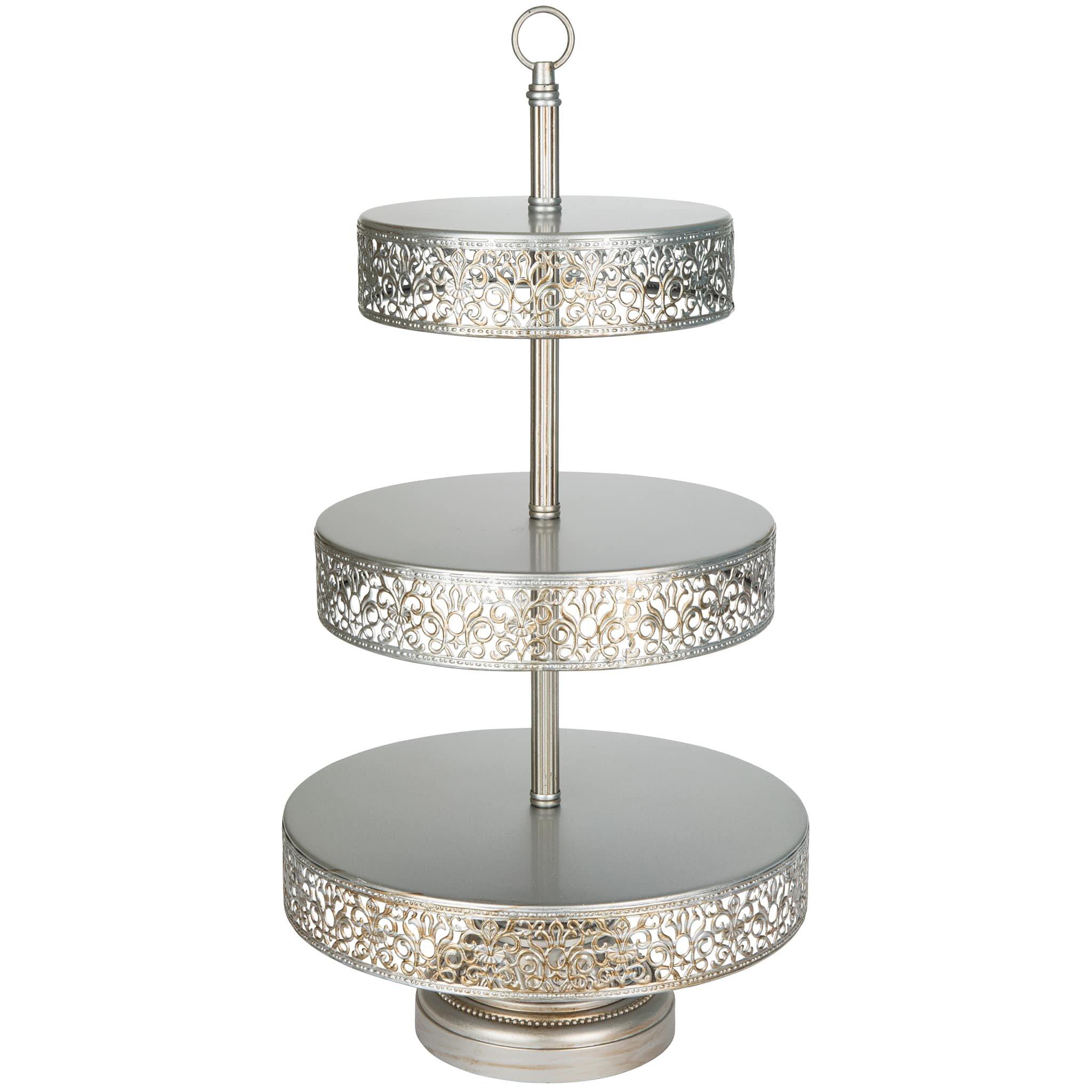 amalfidecor victoria 3 tier metal cupcake stand reviews. Black Bedroom Furniture Sets. Home Design Ideas