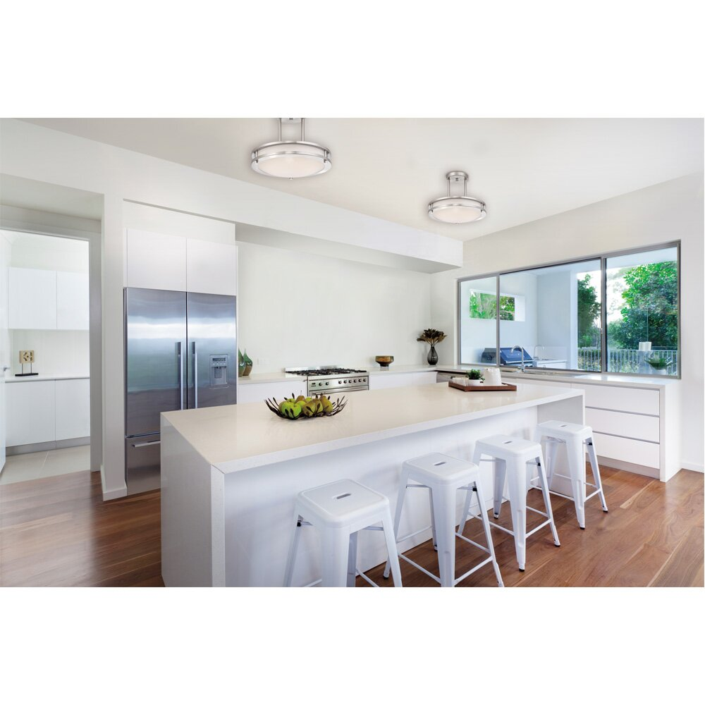 Semi Flush Mount Kitchen Lighting Westinghouse Lighting 1 Light Dimmable Led Semi Flush Mount